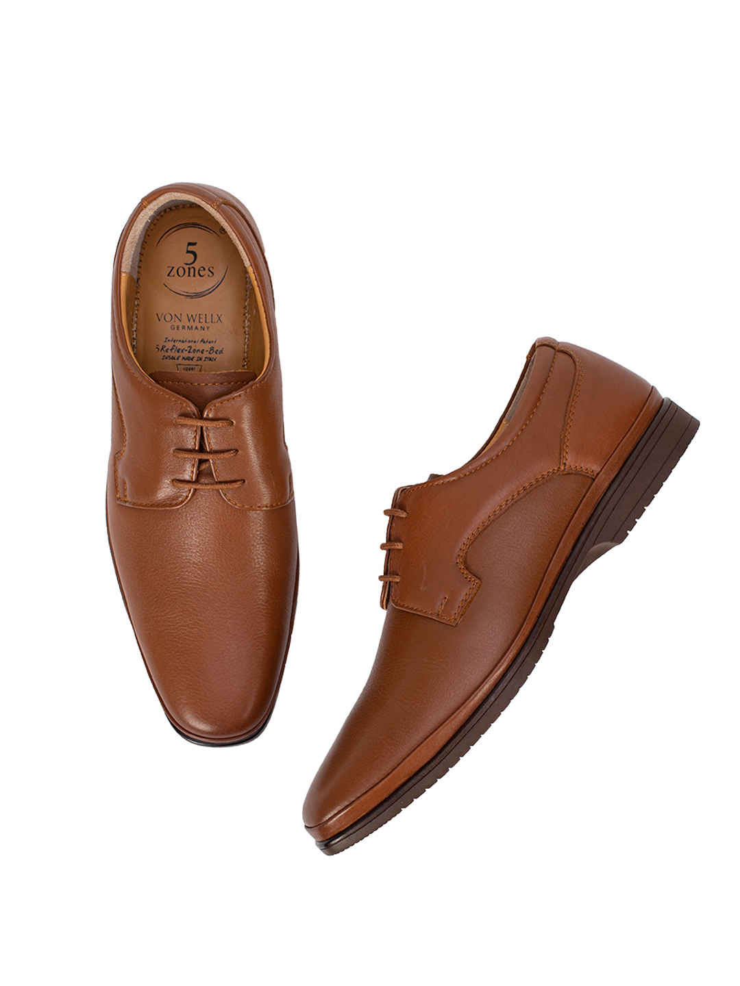 Buy Von Wellx Germany Comfort Tan Marc Shoes Online in Rajkot