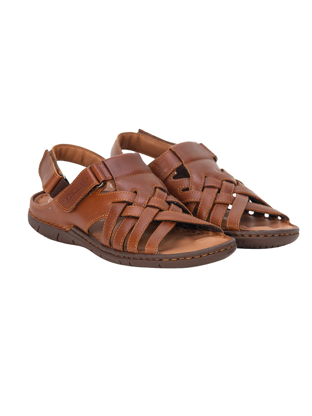 Buy Von Wellx Germany Comfort Stride Tan Sandals Online in Muscat