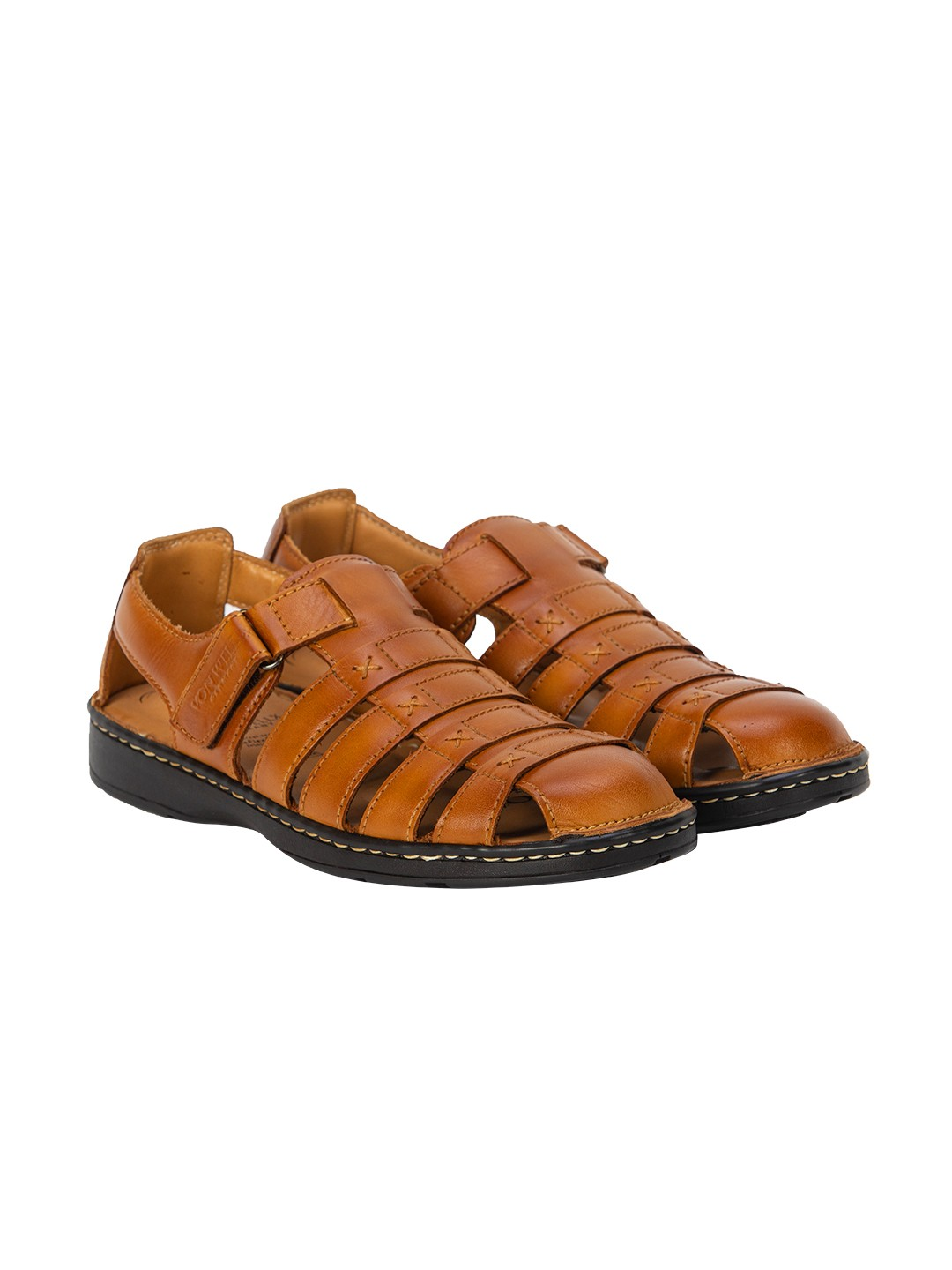 Buy Von Wellx Germany Comfort Melvil Tan Sandals Online in Muscat