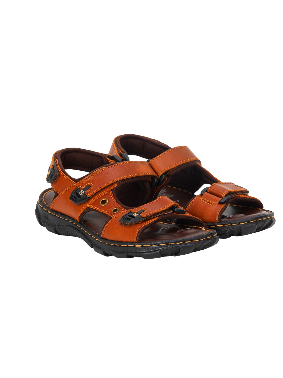 Buy VON WELLX KOZAN COMFORT TAN SANDALS In Delhi