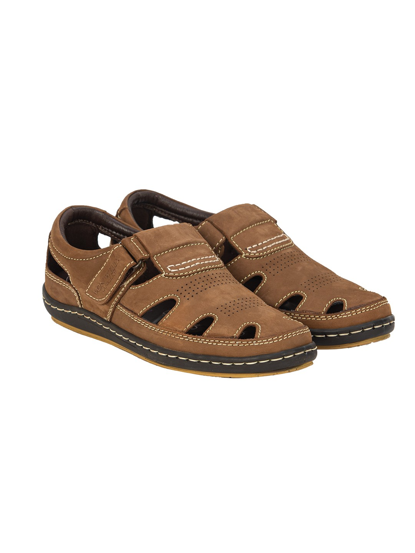 Buy Von Wellx Germany Comfort Tread Chikoo Sandals Online in Warangal