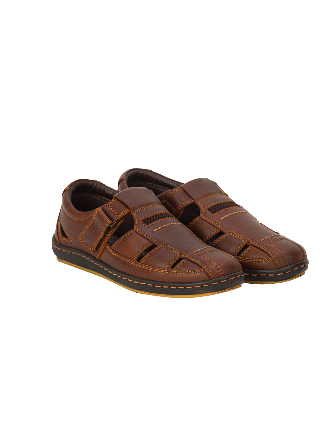 Buy VON WELLX GERMANY COMFORT BROWN CANTER SANDALS In Delhi