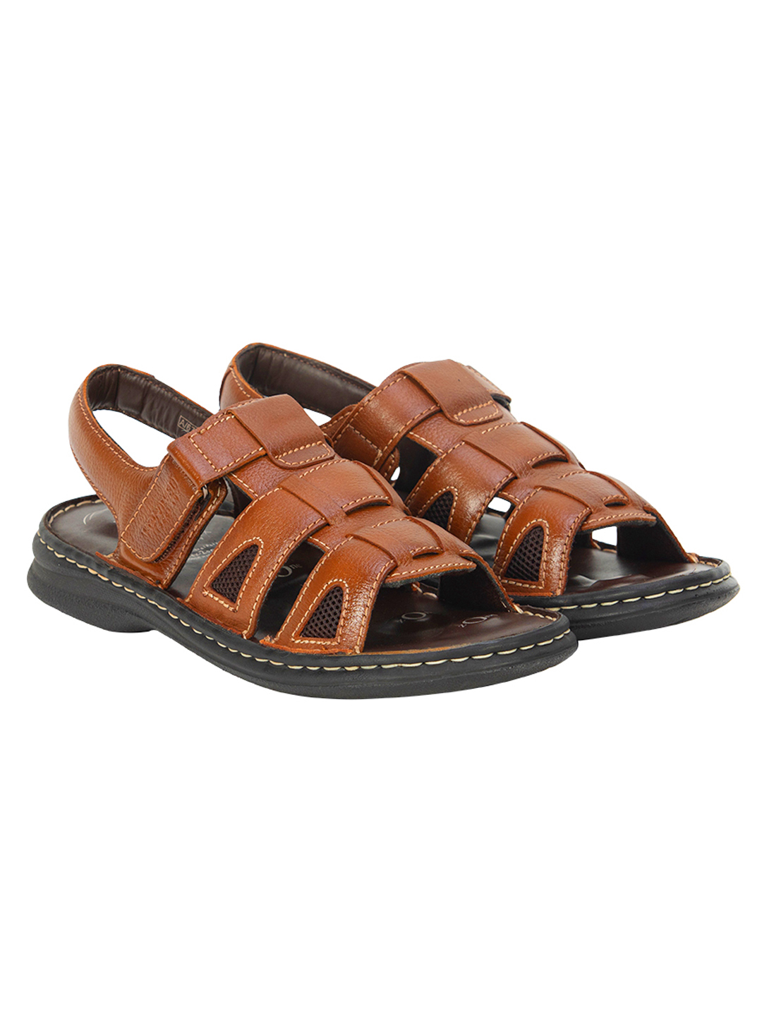 VON WELLX GERMANY COMFORT RHYS TAN SANDALS