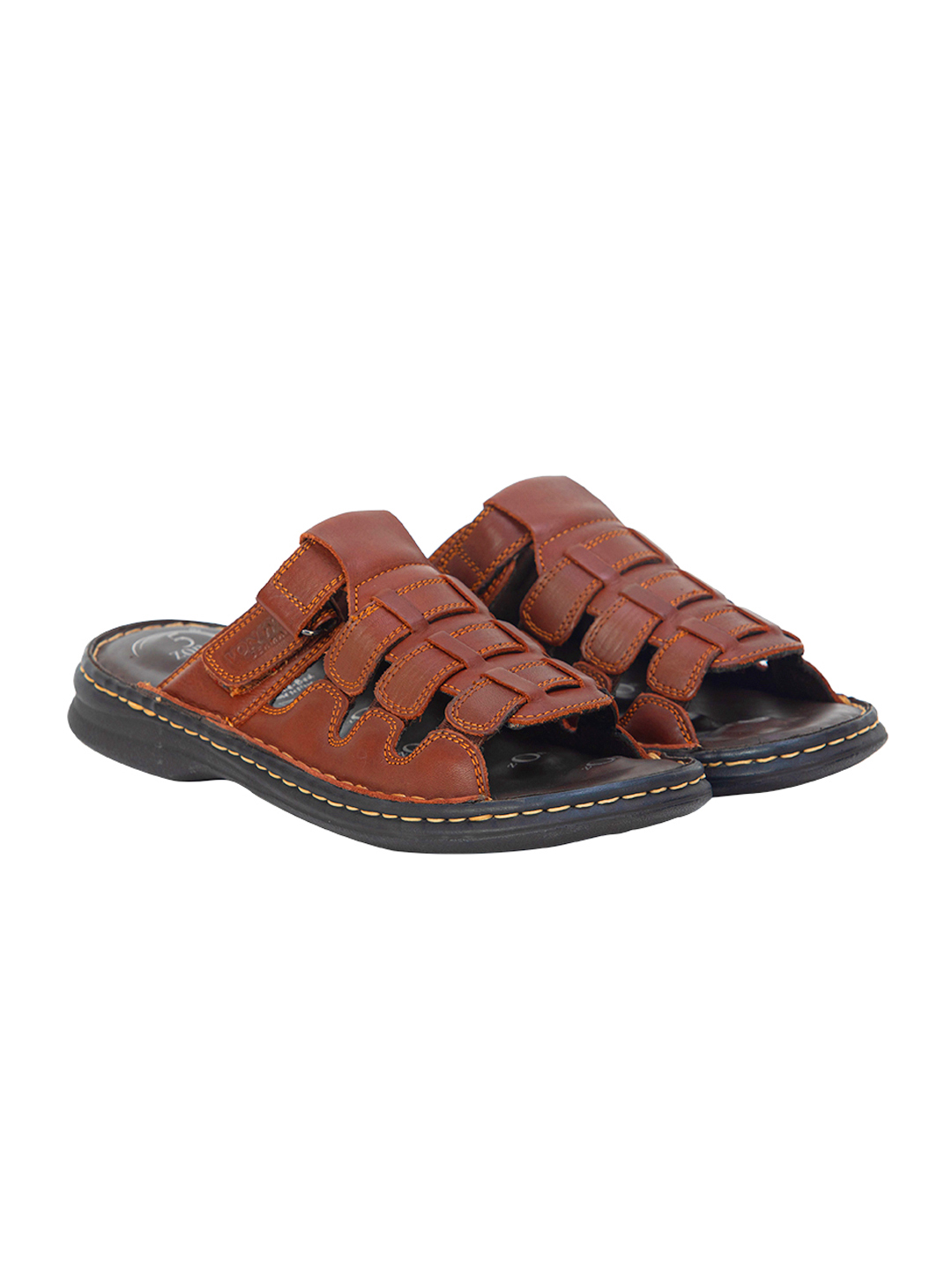 VON WELLX GERMANY COMFORT BROWN CONNOR SLIPPERS