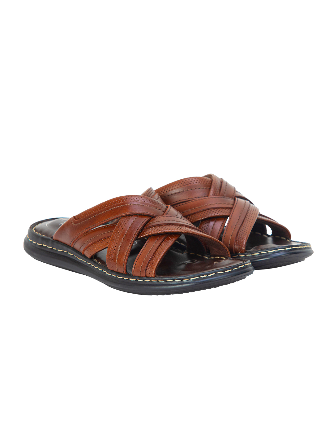 Buy Von Wellx Germany Comfort Brown Rivel Slippers Online in Jaipur