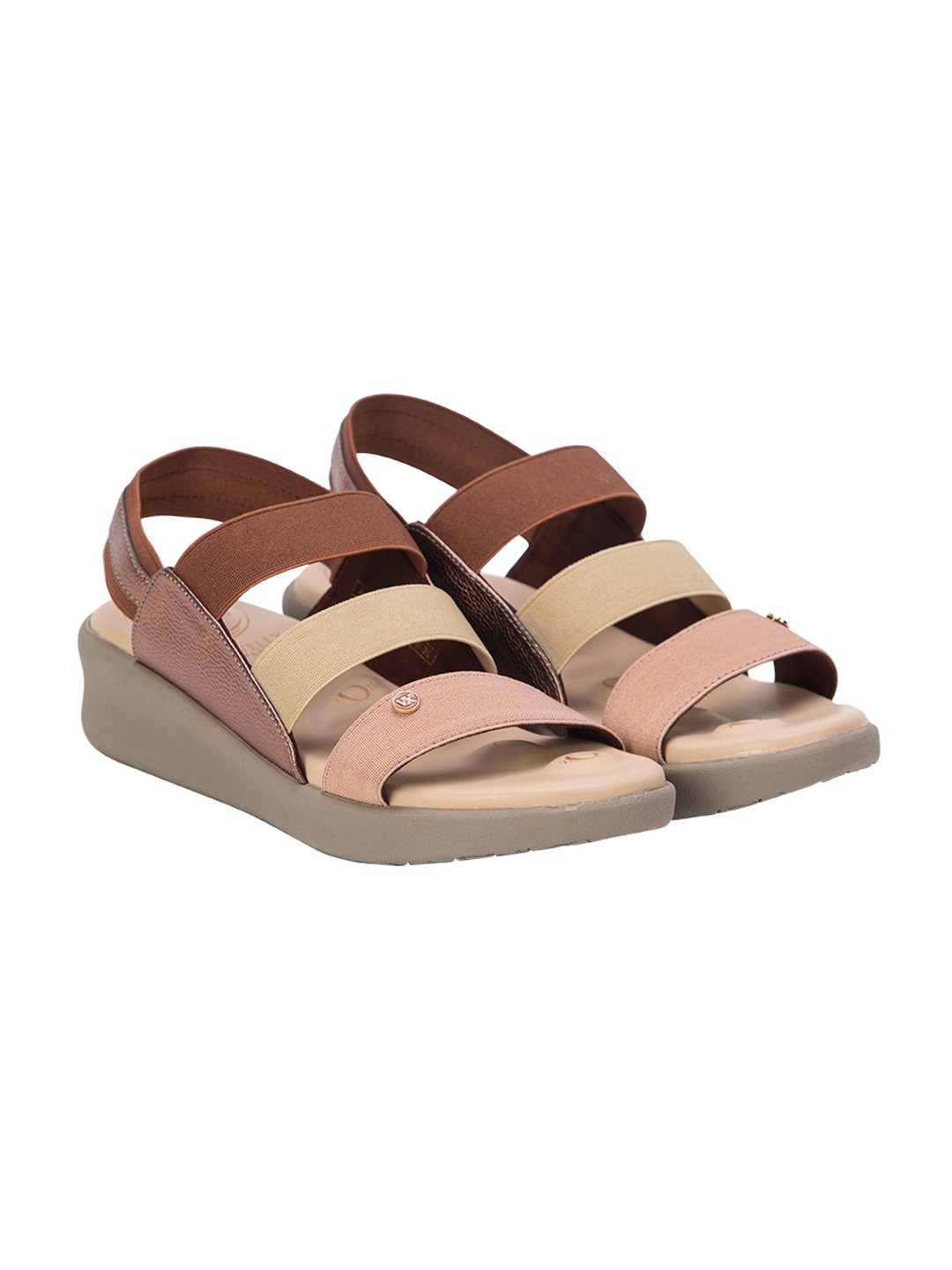 VON WELLX GERMANY COMFORT CAMILA BROWN SANDALS