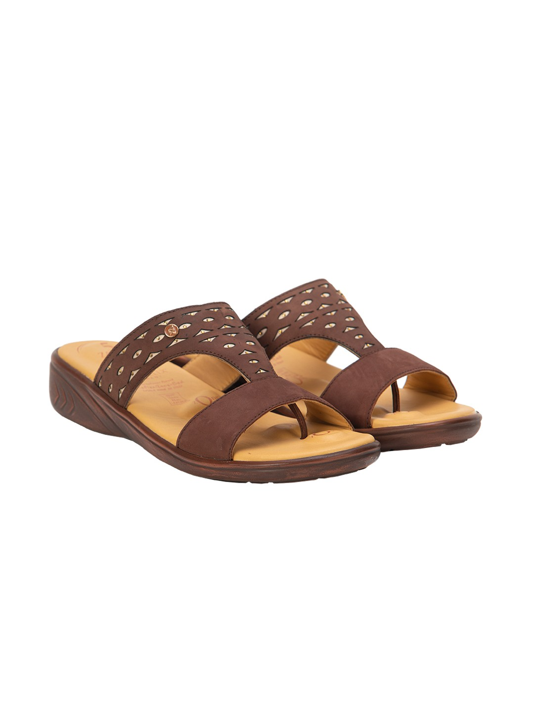 Buy Von Wellx Thea Comfort Brown Slippers Online in Tiruchirappalli
