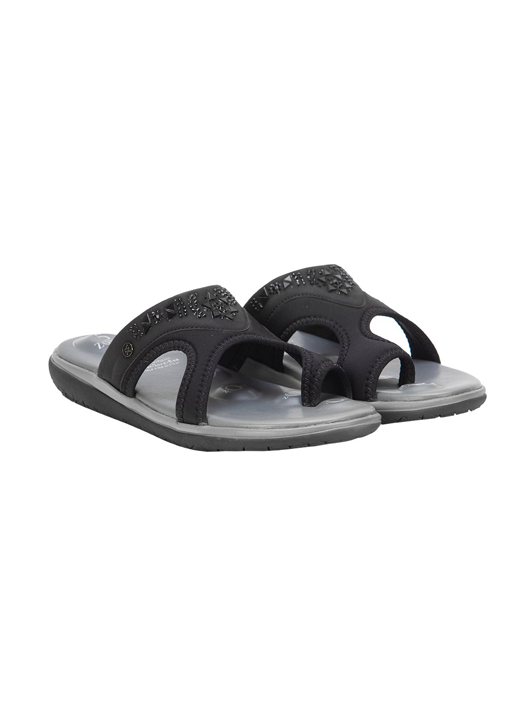 Buy Von Wellx Germany Comfort Hale Black Slippers Online in Lucknow