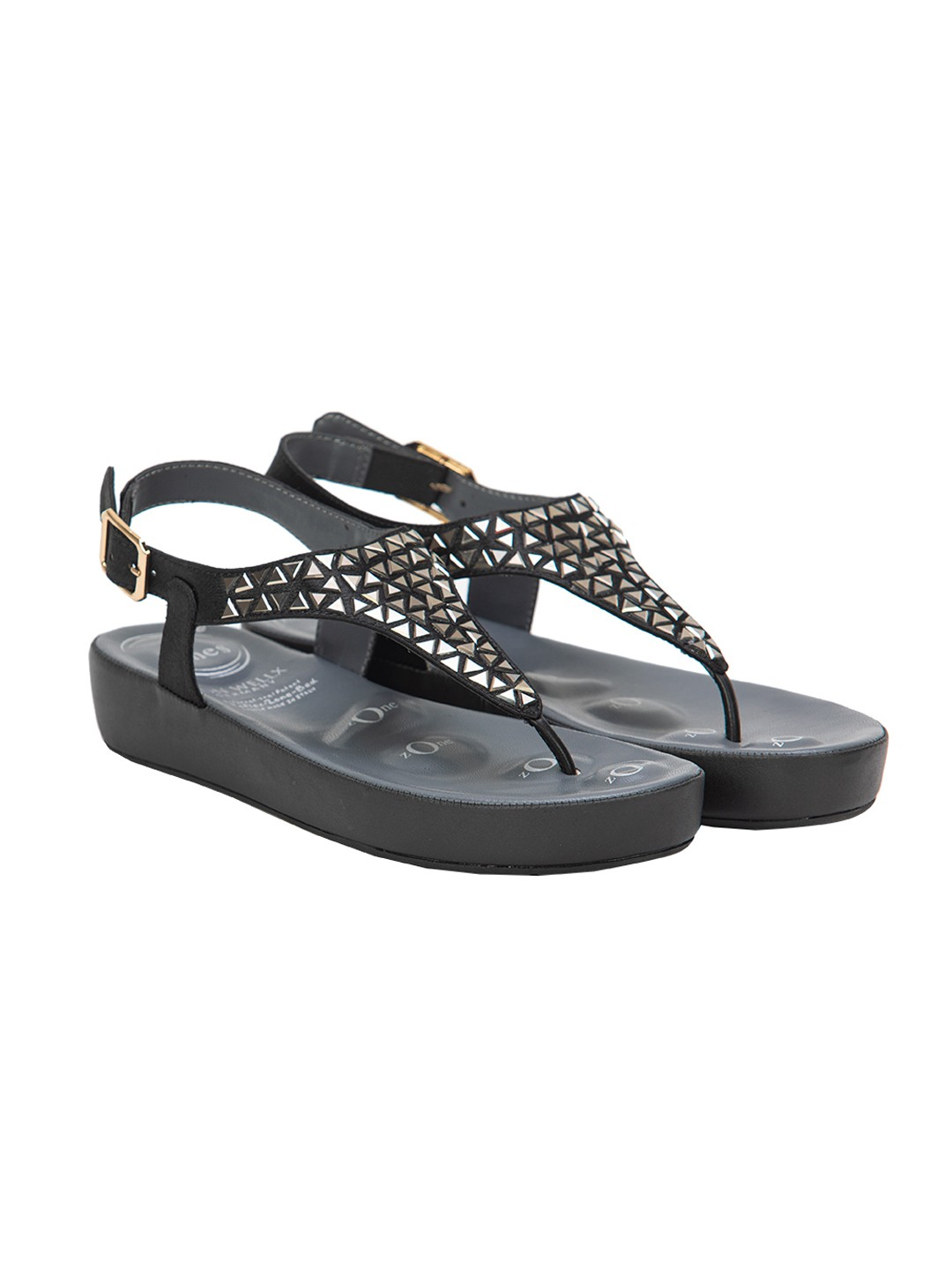 Buy Von Wellx Haven Comfort Black Sandal Online in Sri Lanka