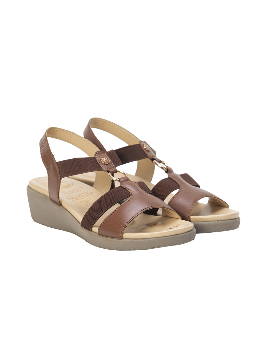 Buy VON WELLX AMOS COMFORT TAN SANDALS In Delhi