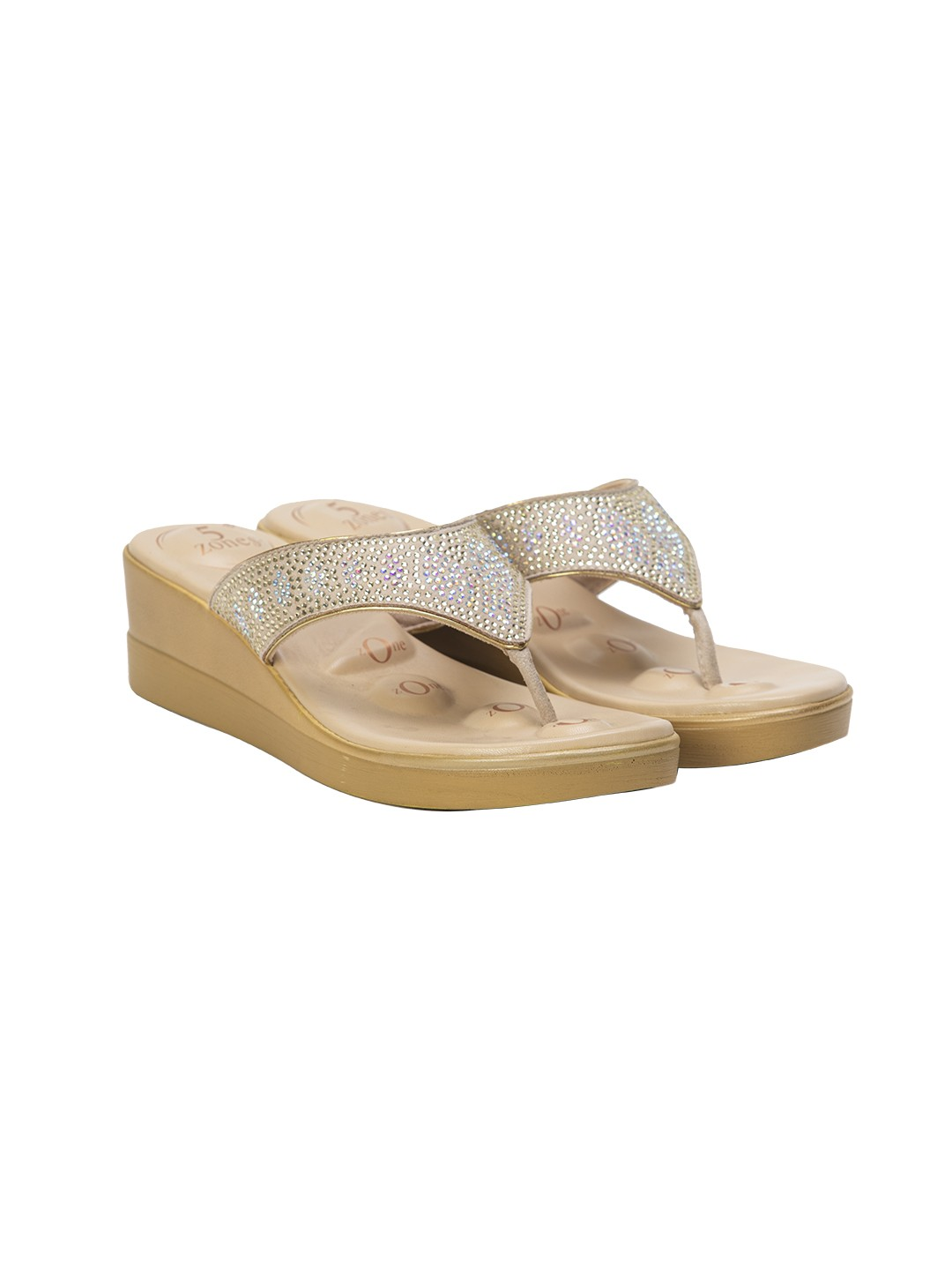 Buy Von Wellx Quinn Comfort Tan  Slippers Online in Maharashtra