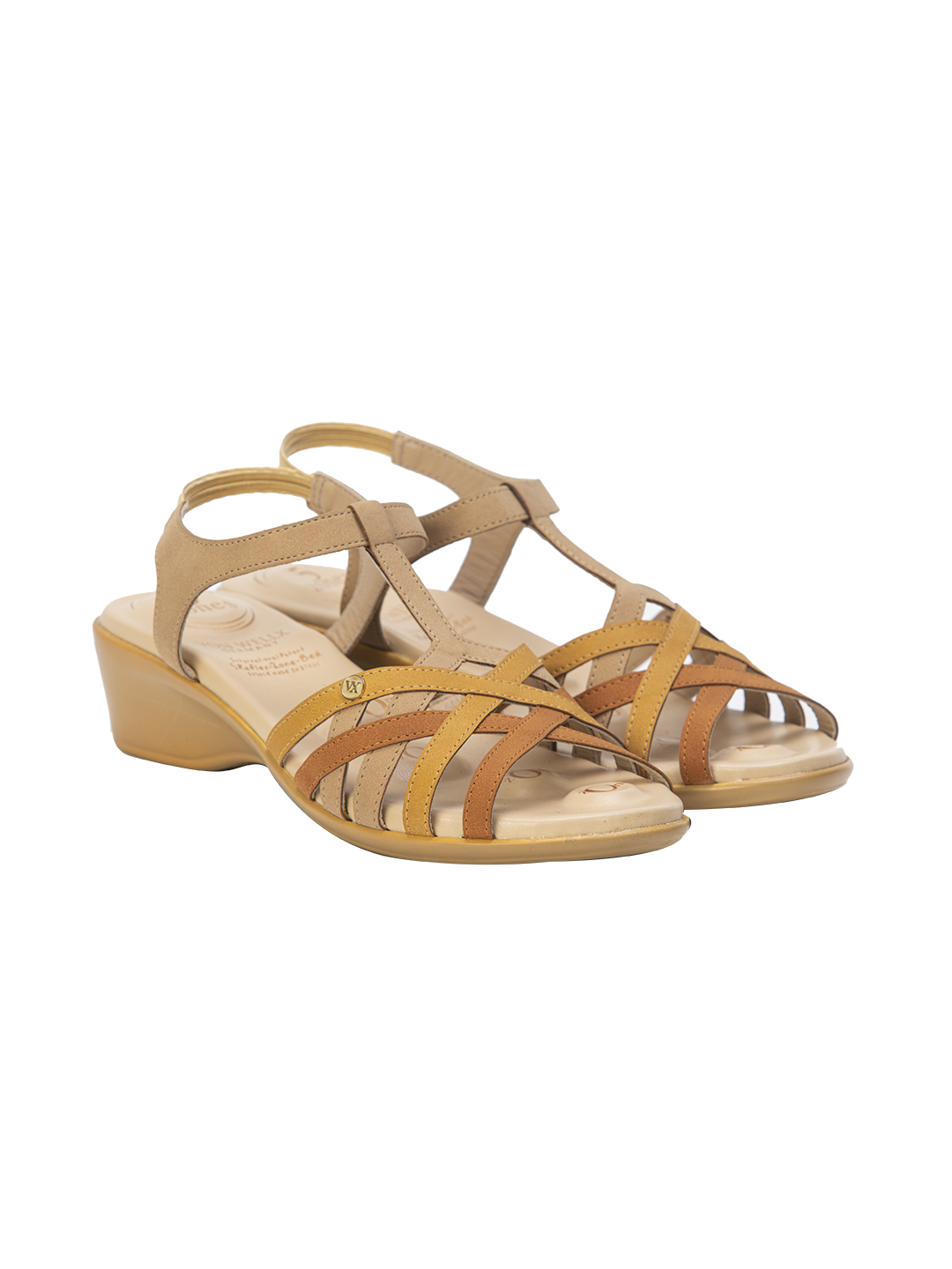 Buy Von Wellx Chloe Comfort Beige Sandal Online in Hyderabad
