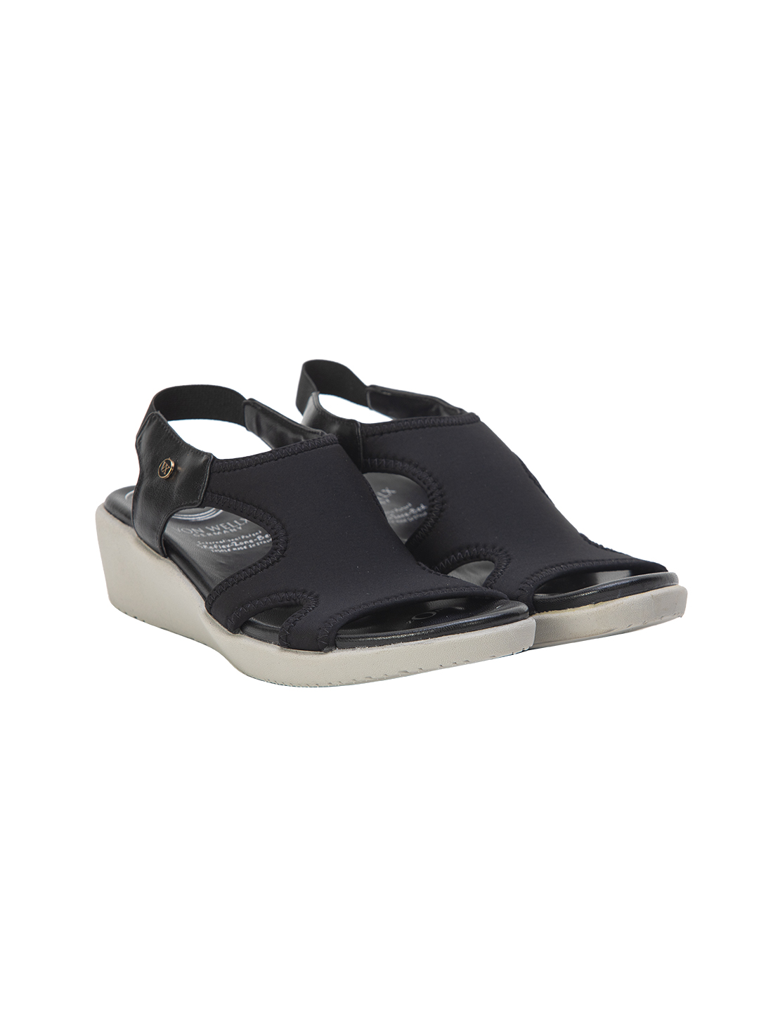 Buy Von Wellx Germany Comfort Shirley Black Sandals Online in Ludhiana