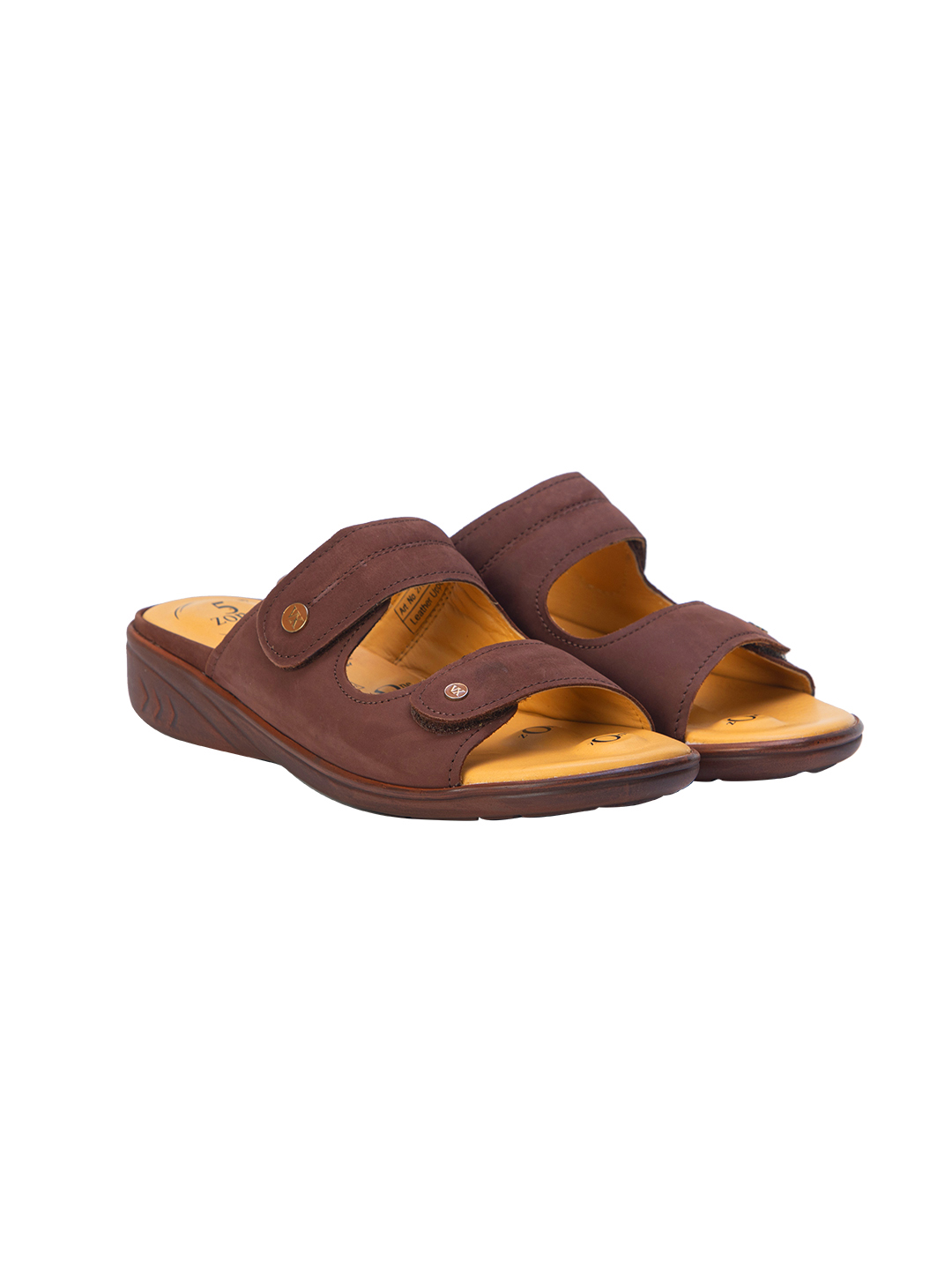 Buy Von Wellx Germany Comfort Zora Brown Slides Online in Tiruchirappalli