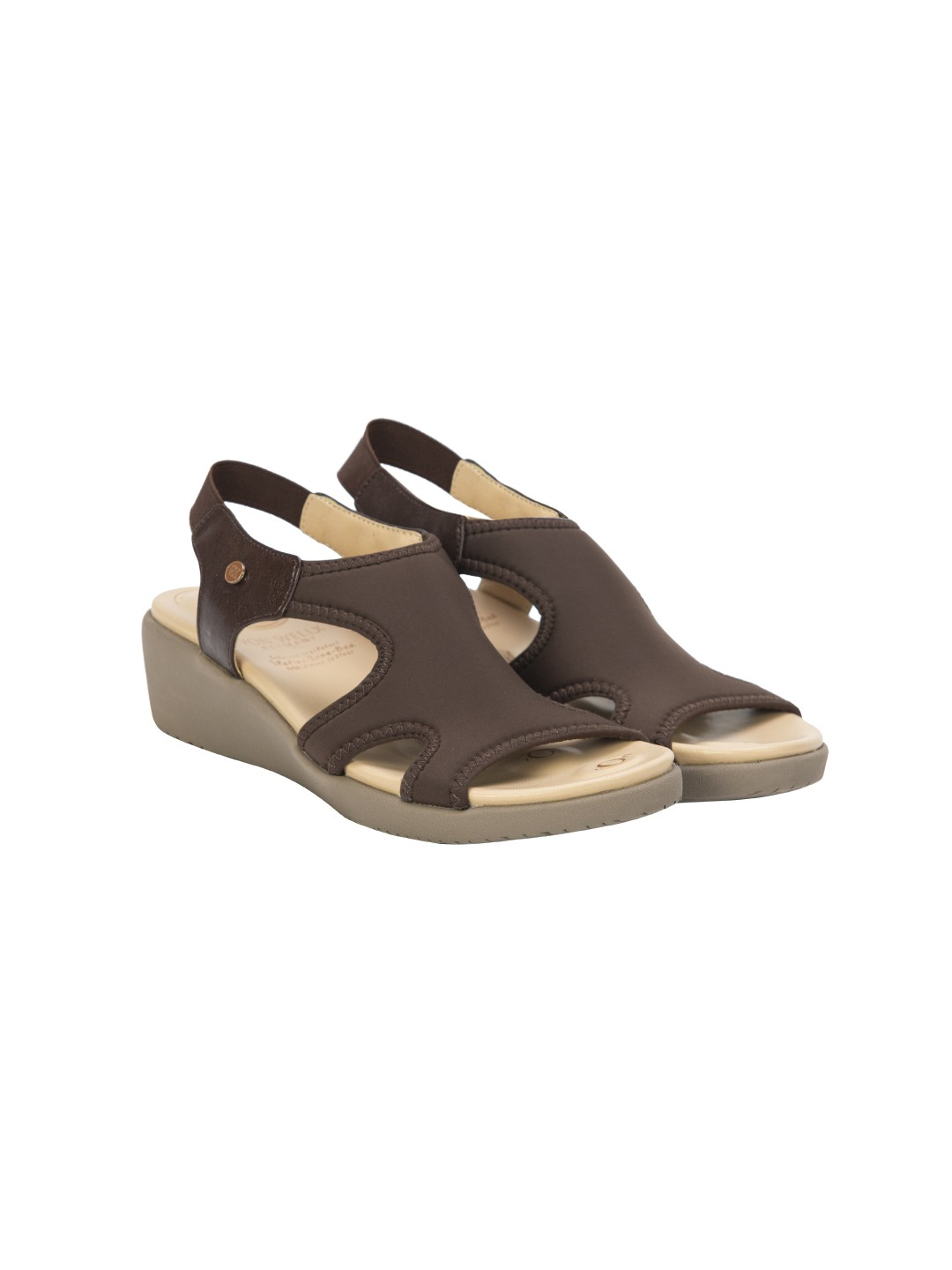 Buy Von Wellx Germany Comfort Brown Shirley Sandals Online in Agra