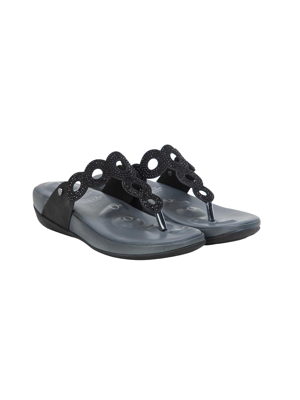 Buy Von Wellx Germany Comfort Leia Black Slippers Online in Dehradun