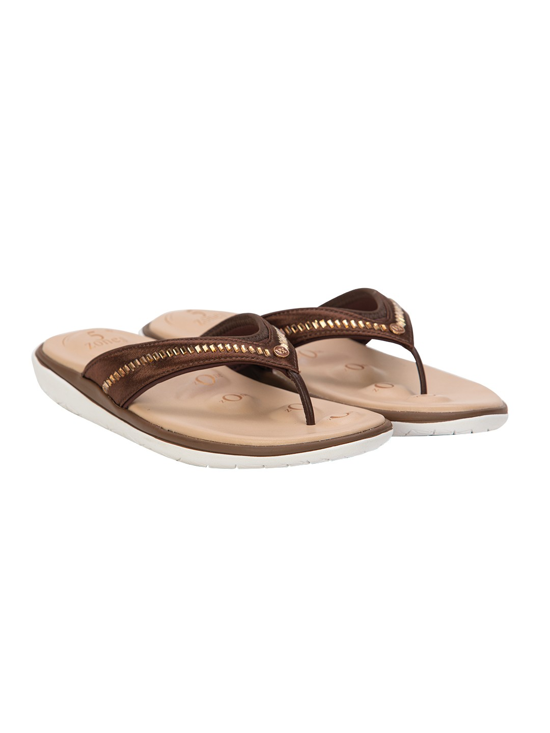 Buy Von Wellx Molly Comfort Brown Slipper Online in Maharashtra