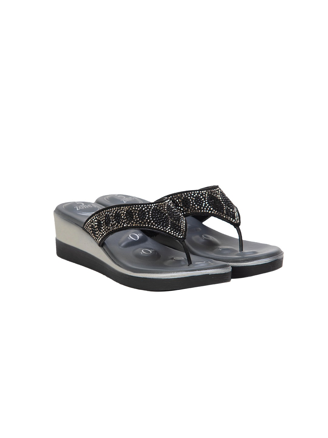 Buy Von Wellx Quinn Comfort Black Slippers Online in Doha