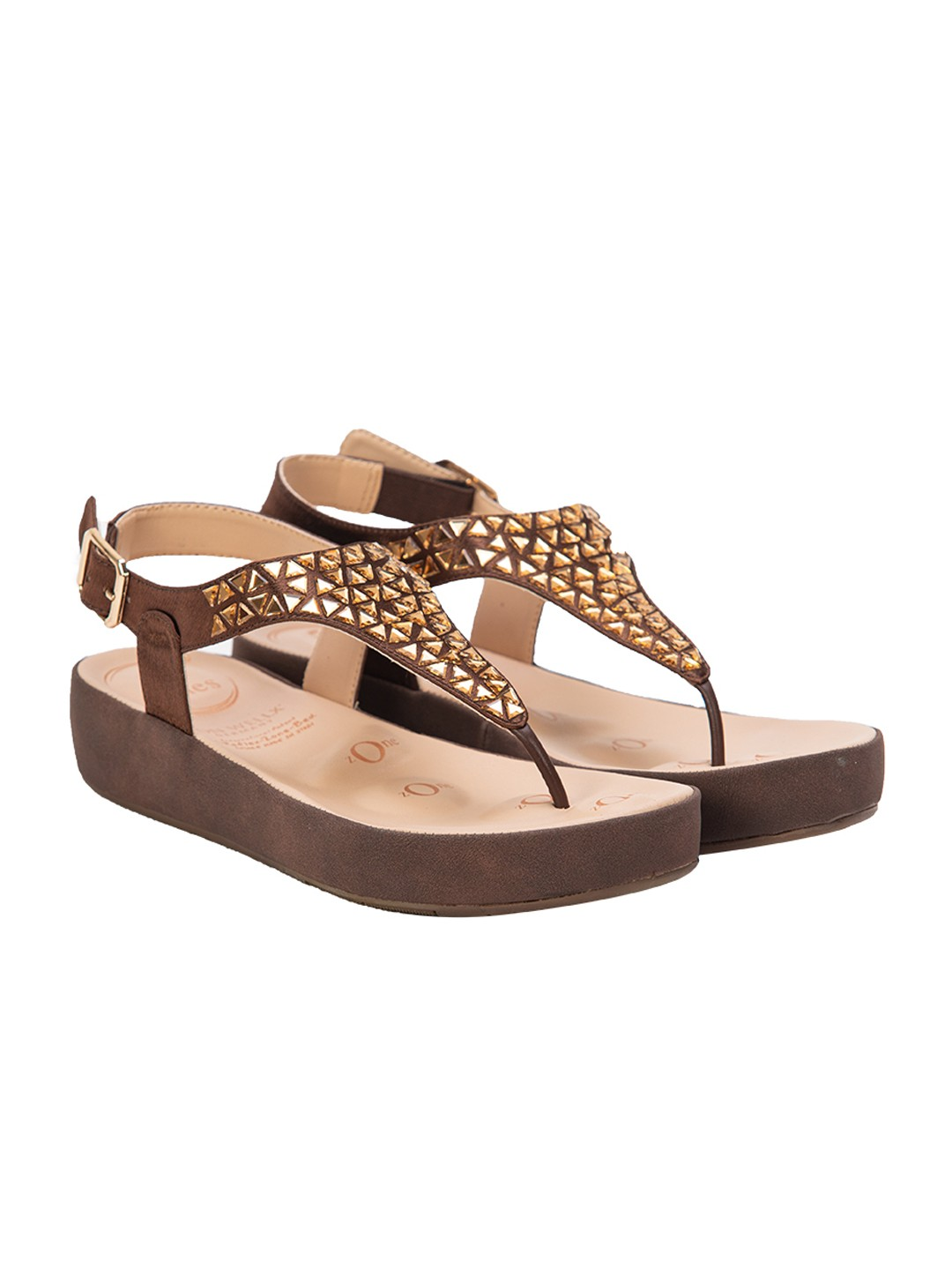 Buy Von Wellx Haven Comfort Brown Sandal Online in Agra
