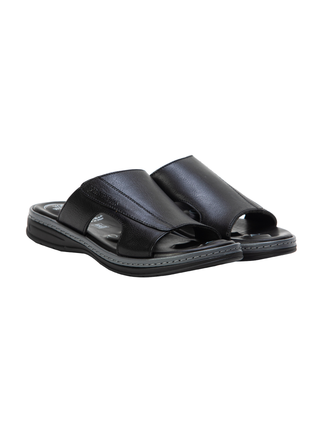 VON WELLX GERMANY COMFORT SAUNTER BLACK SLIPPERS
