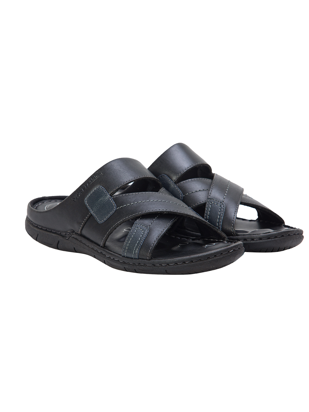Buy Von Wellx Germany Comfort Rove Black Slippers Online in Pune