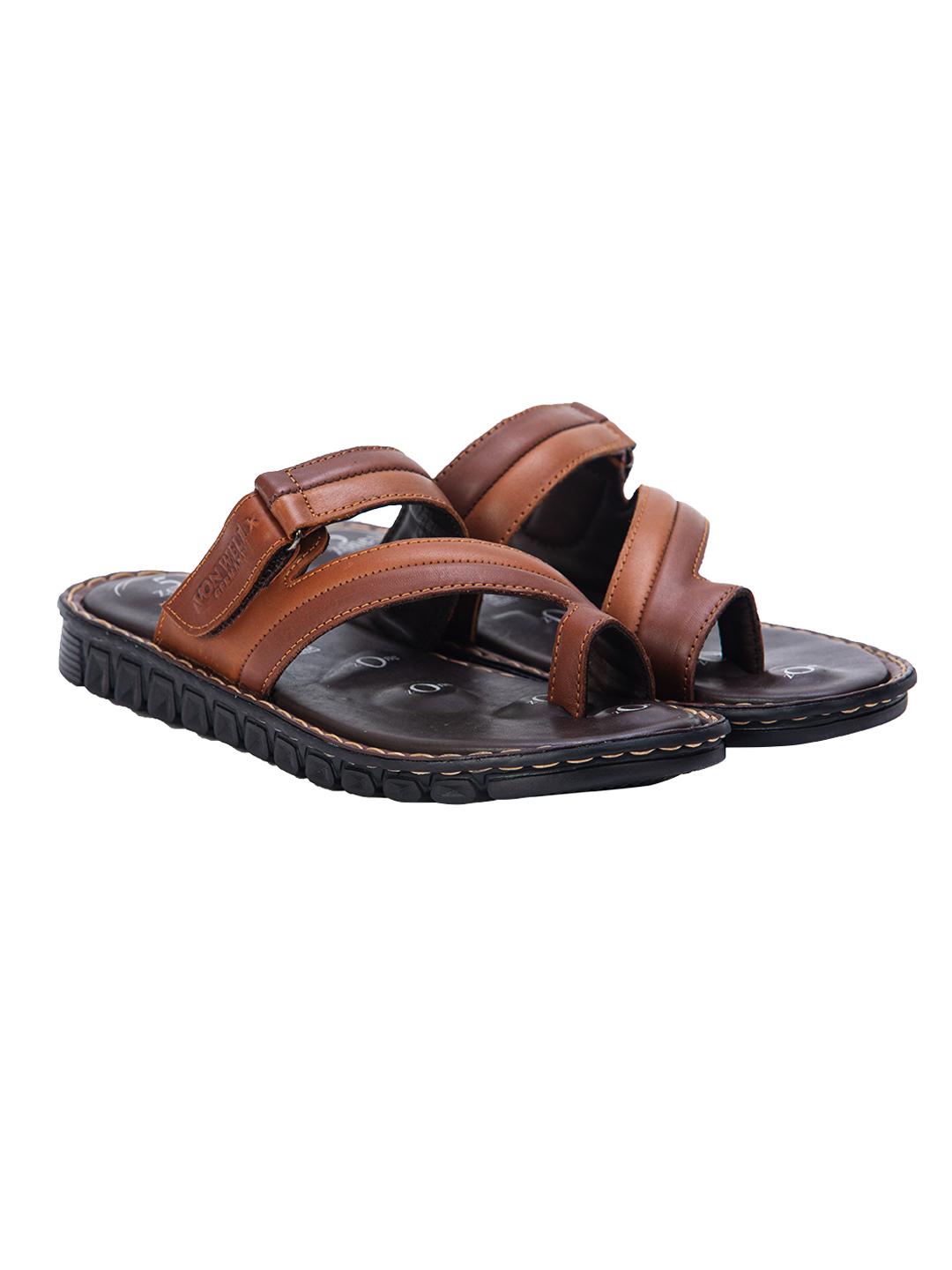 VON WELLX GERMANY COMFORT JAUNT BROWN SLIPPERS