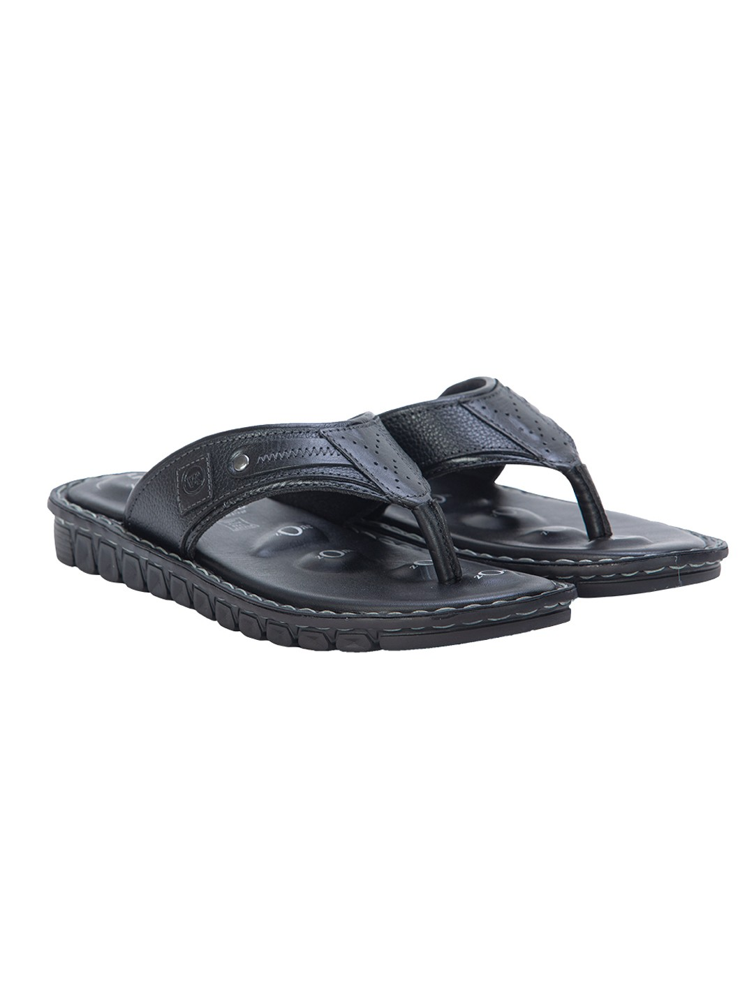 VON WELLX ELMER COMFORT BLACK SLIPPERS