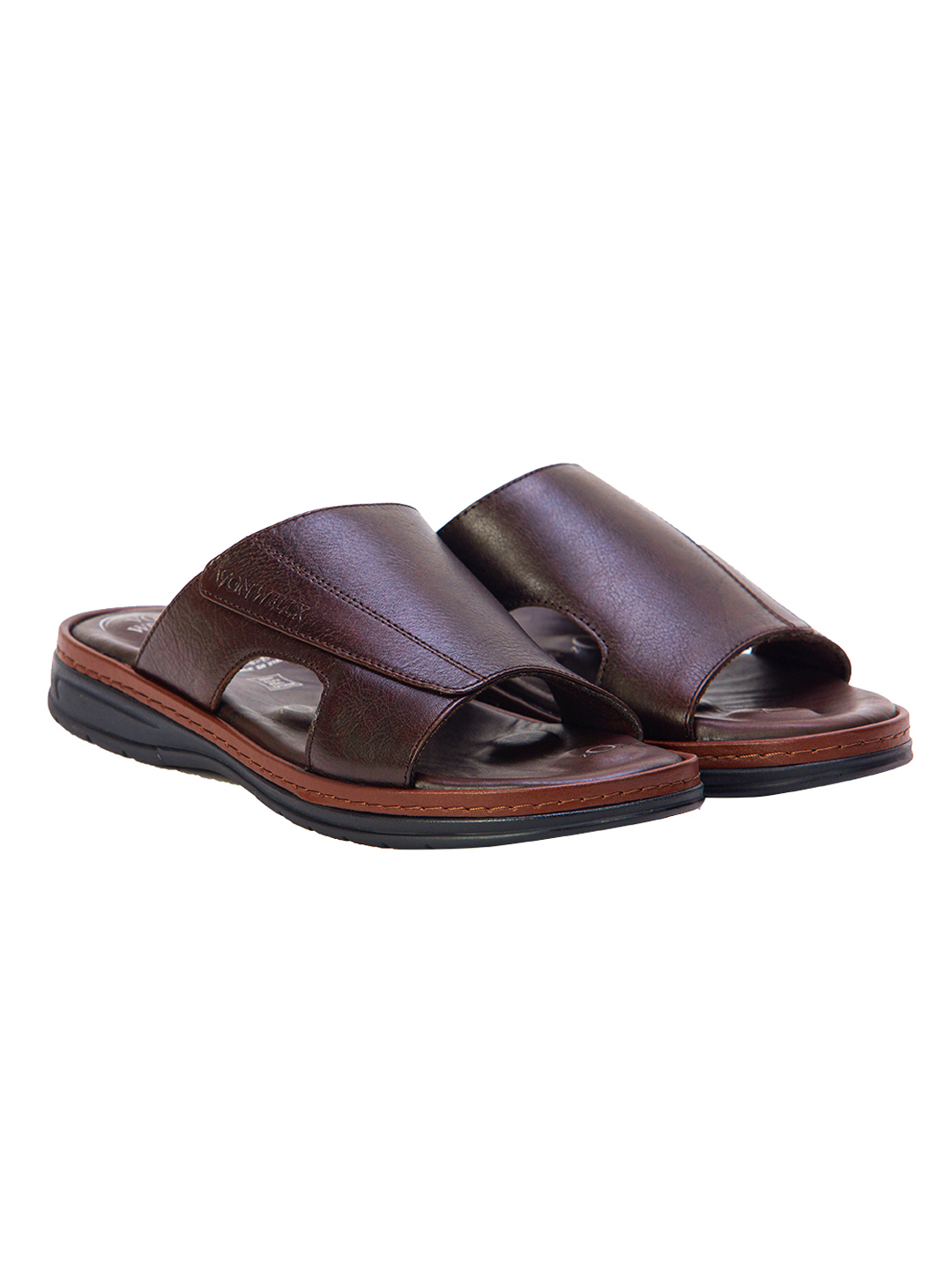 Buy VON WELLX GERMANY COMFORT SAUNTER BROWN SLIPPERS In Delhi