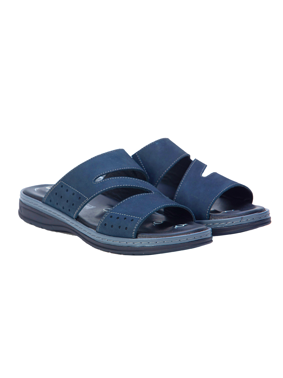 Buy Von Wellx Morris Comfort Blue Slides Online in Agra