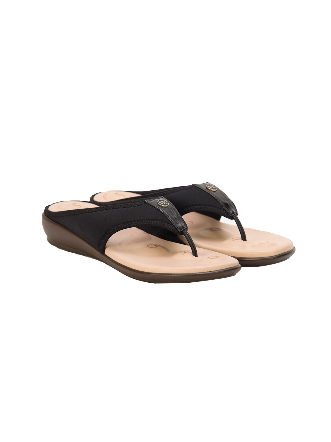 Buy Von Wellx Joanna Comfort Black Slippers Online in Tamil Nadu