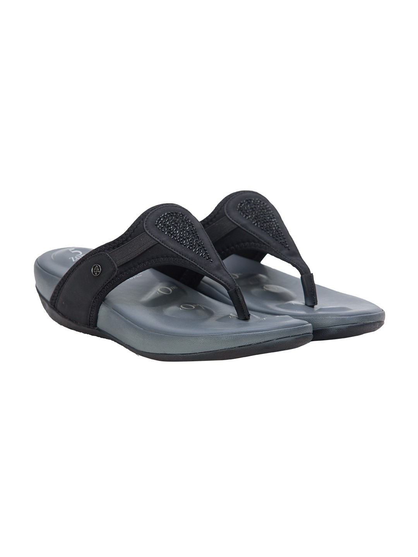Buy Von Wellx Germany Comfort Cinch Black Slippers Online in Dehradun