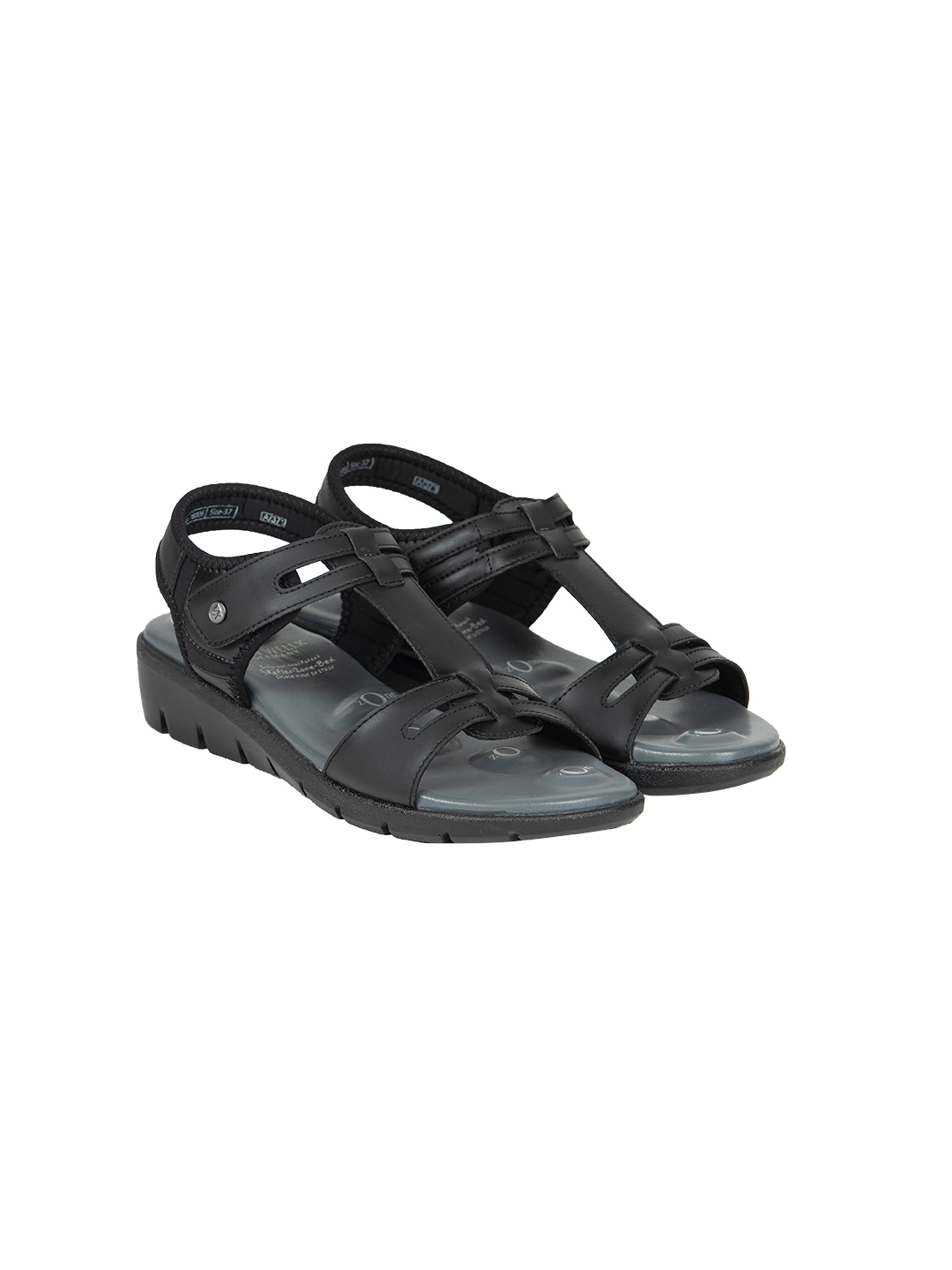 Buy VON WELLX GERMANY COMFORT NOVA BLACK SANDALS In Delhi