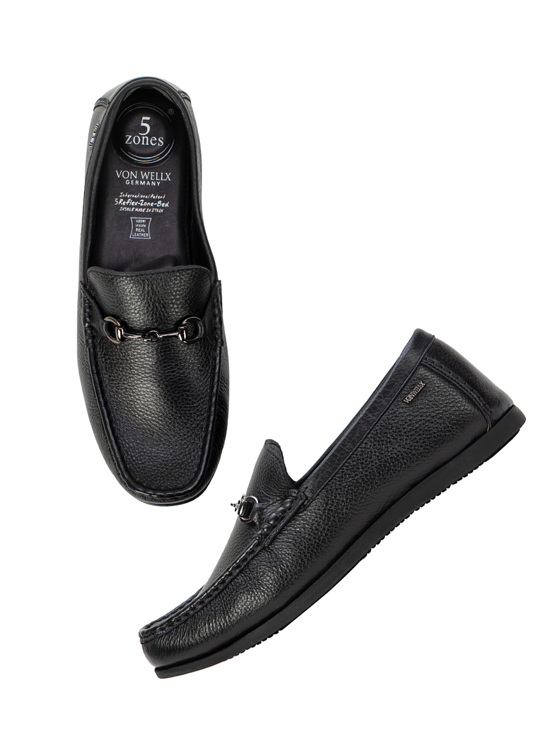 Buy Von Wellx Germany Comfort Black Carlos Loafers Online in Navi Mumbai