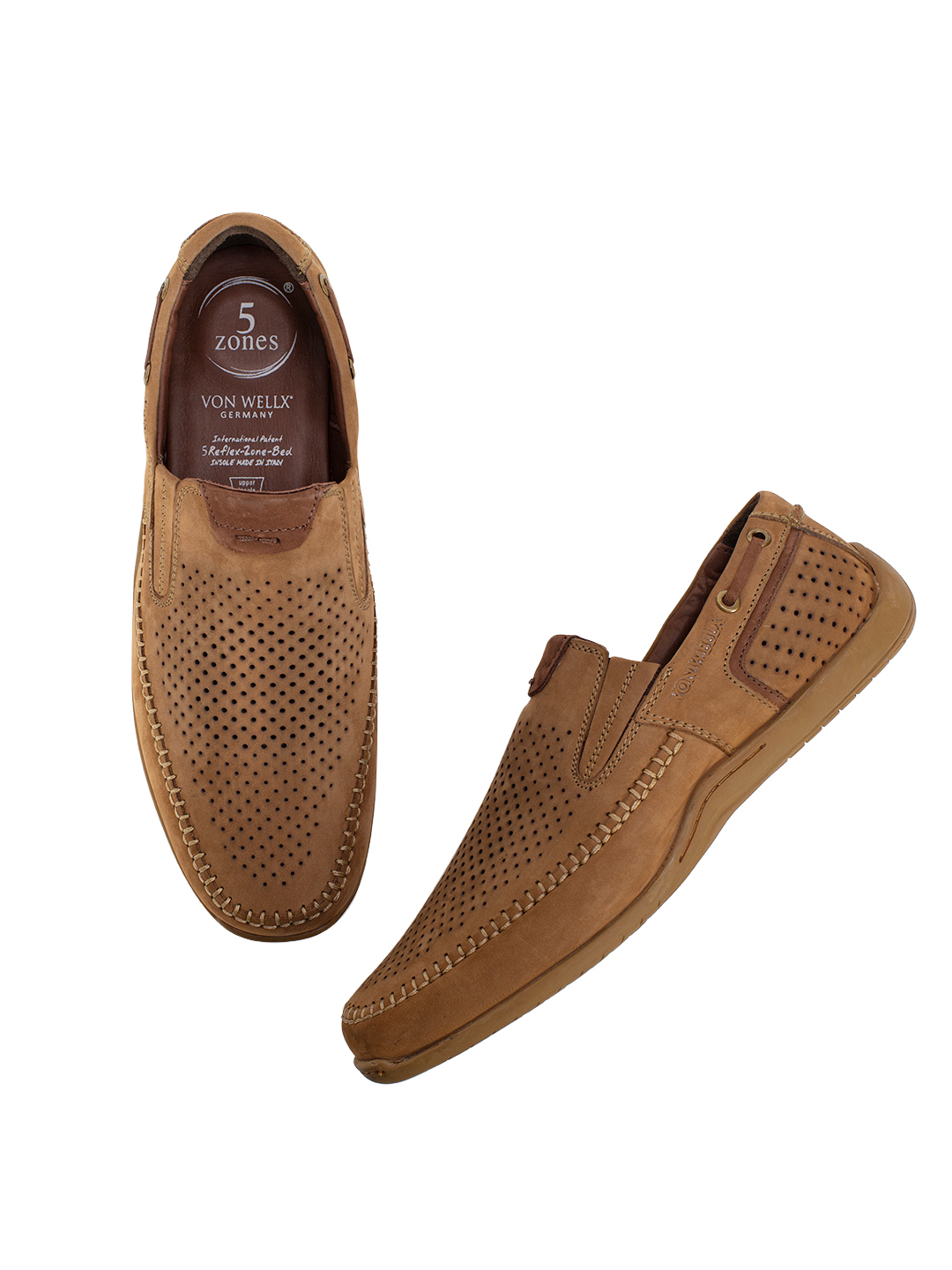 Buy Von Wellx Germany Comfort Chikoo Ian Shoes Online in Rajkot