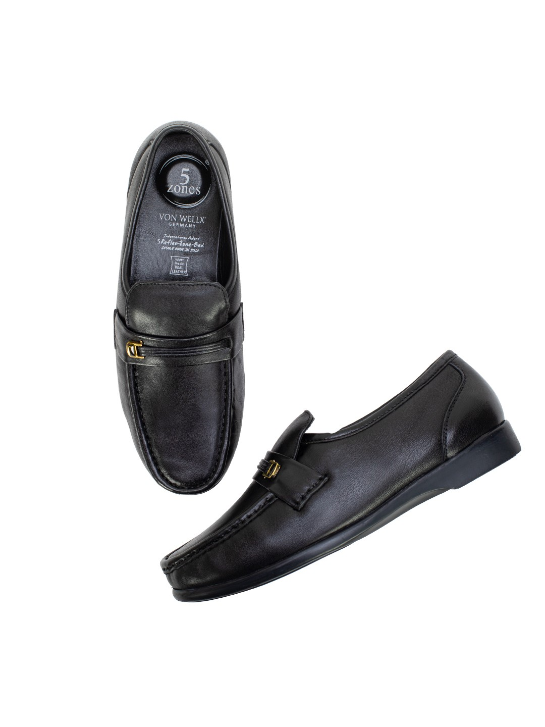 Buy Von Wellx Germany Comfort Black  Miles Shoes Online in Rajkot