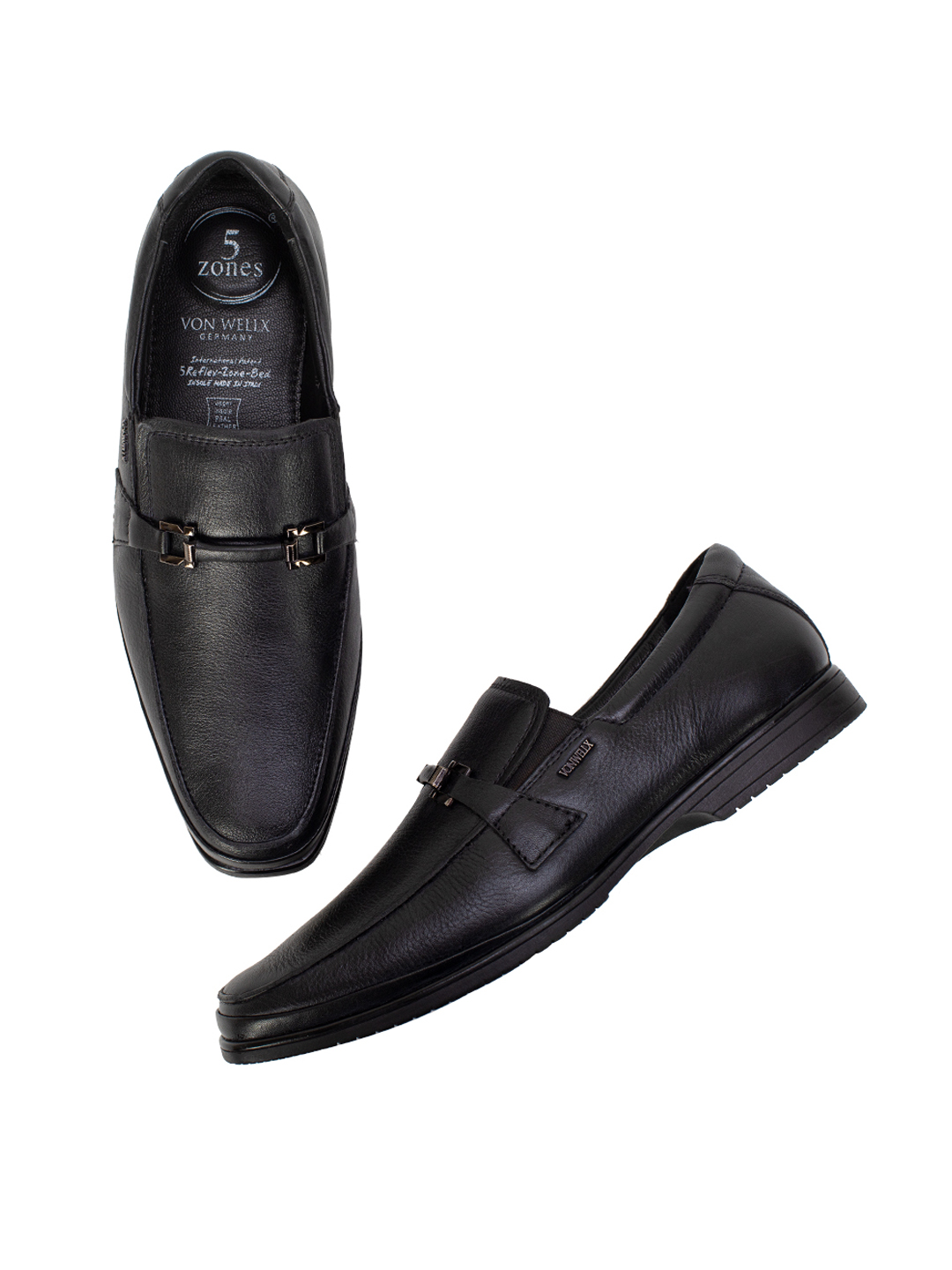 Buy Von Wellx Germany Comfort Black Jace Shoes Online in Rajkot