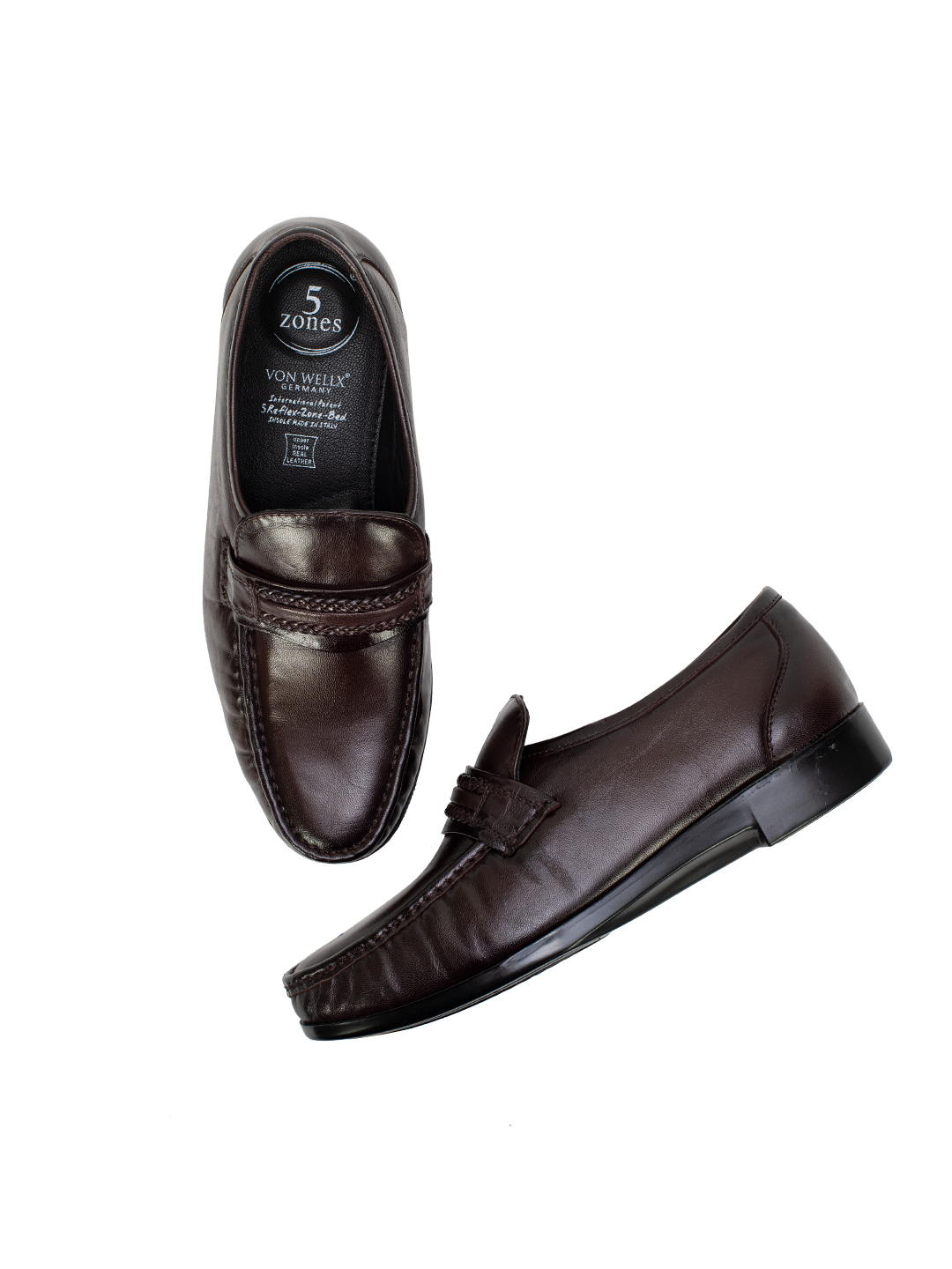 Buy Von Wellx Germany Comfort Brown Gavin Shoes Online in Rajkot