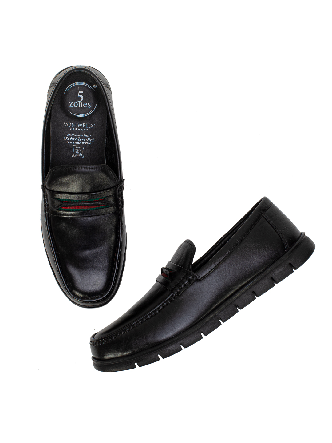 Buy Von Wellx Germany Comfort Black Rhett Shoes Online in Navi Mumbai