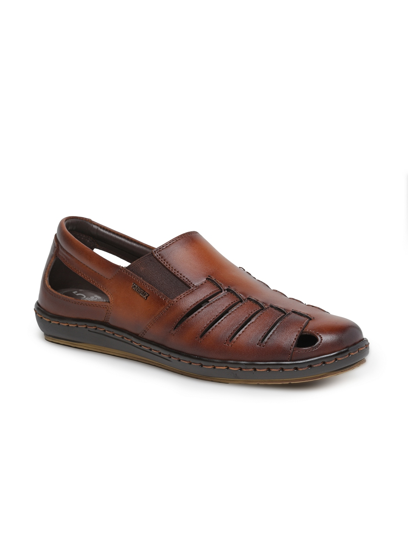 VON WELLX GERMANY comfort men's tan sandal MARCEL