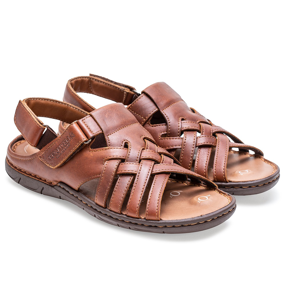 Buy Von Wellx Germany Comfort Stride Tan Sandals Online in Maharashtra