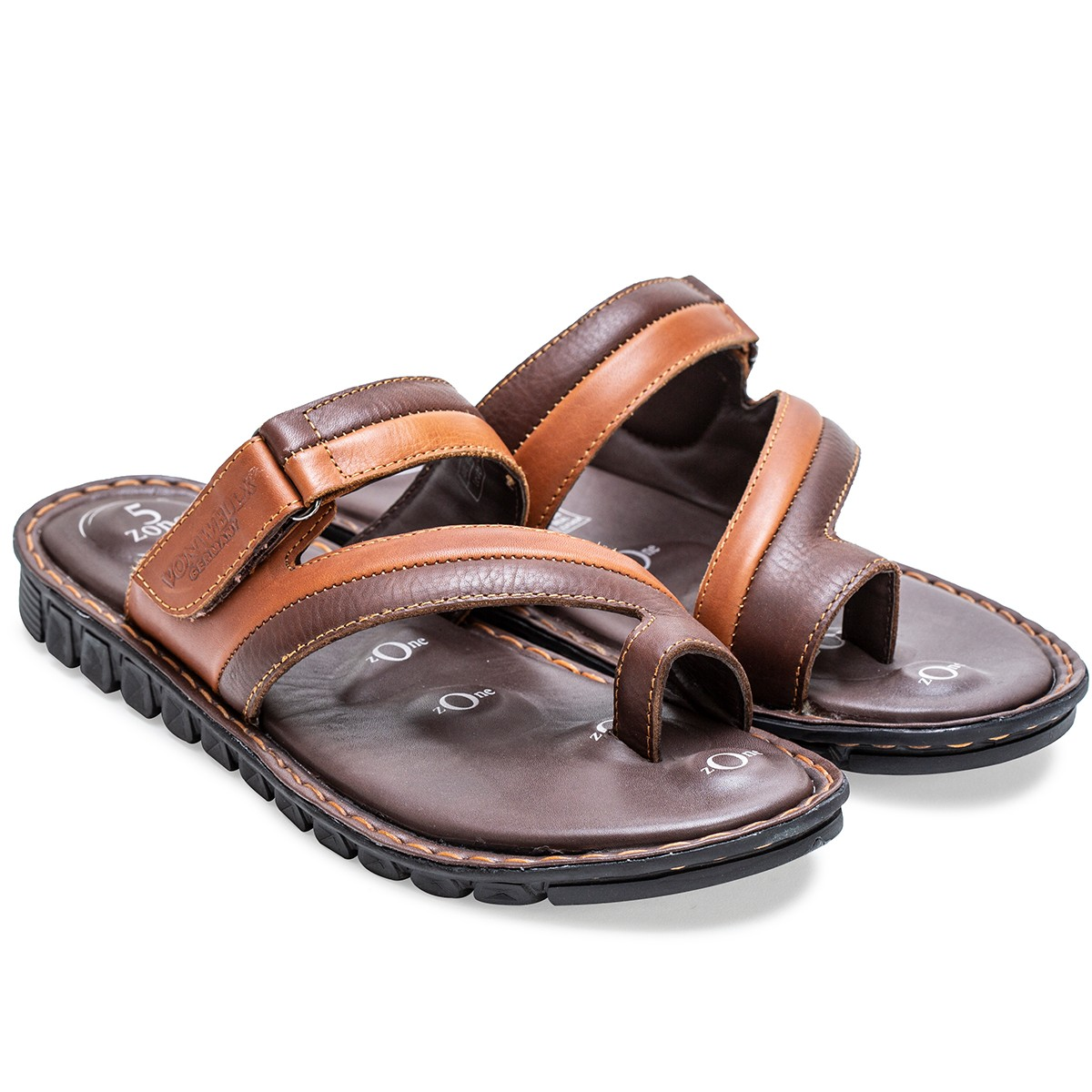 Buy Von Wellx Germany Comfort Jaunt Brown Slippers Online in Srinagar