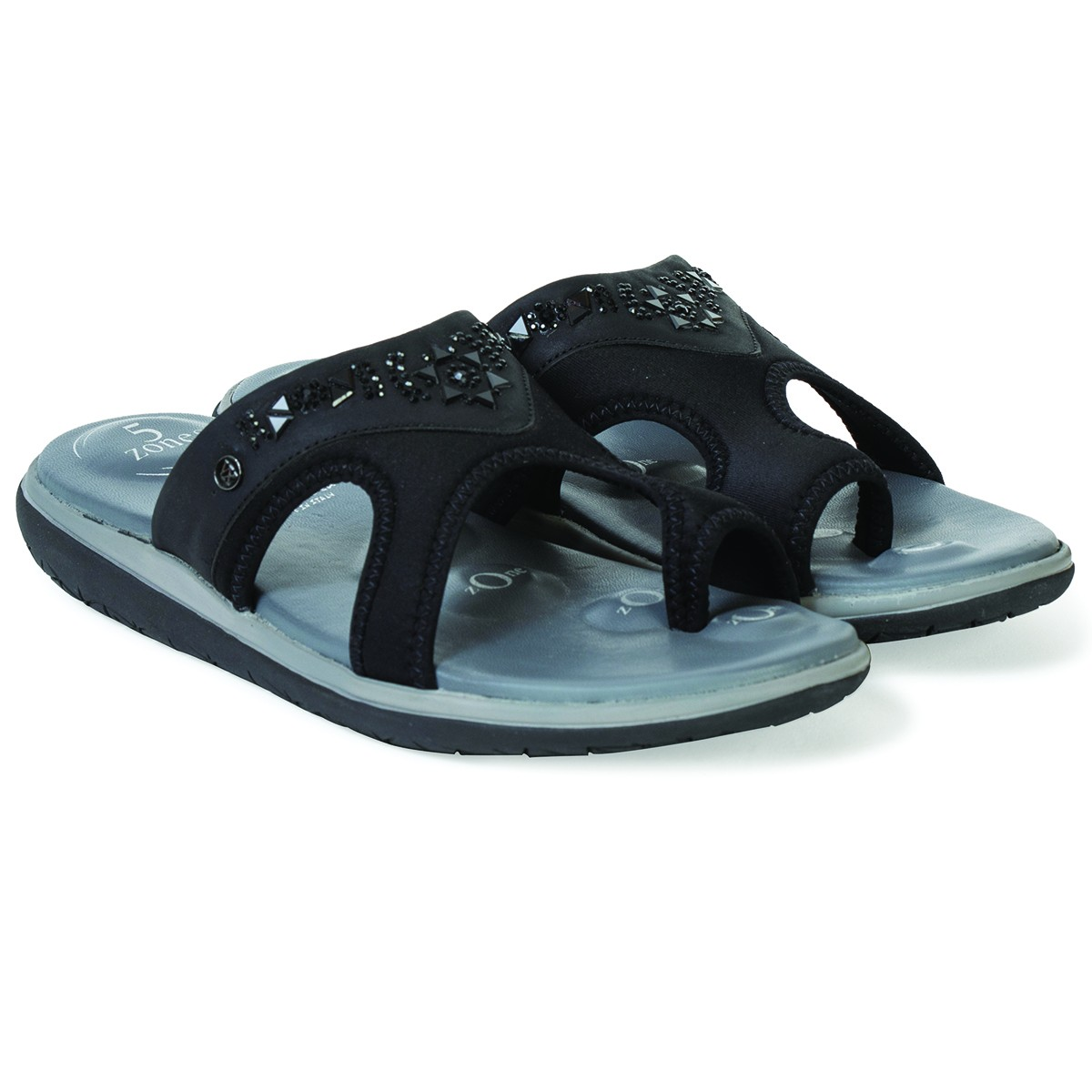 Buy Von Wellx Germany Comfort Hale Black Slippers Online in Ahmedabad