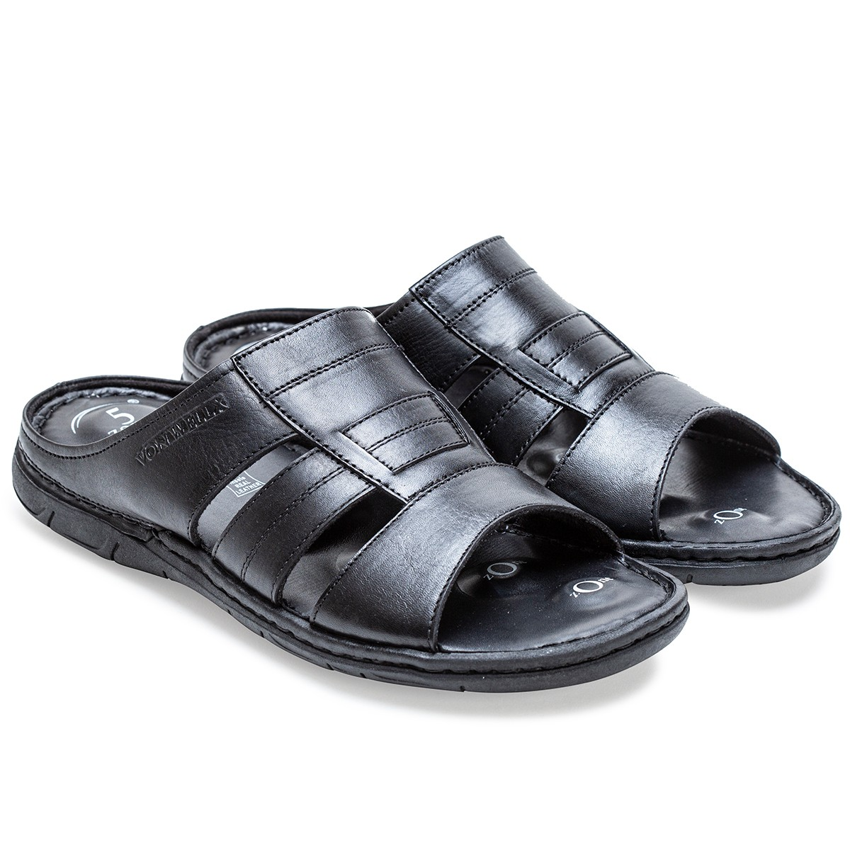 Buy Von Wellx Germany Comfort Gait Black Slippers Online in Bangalore