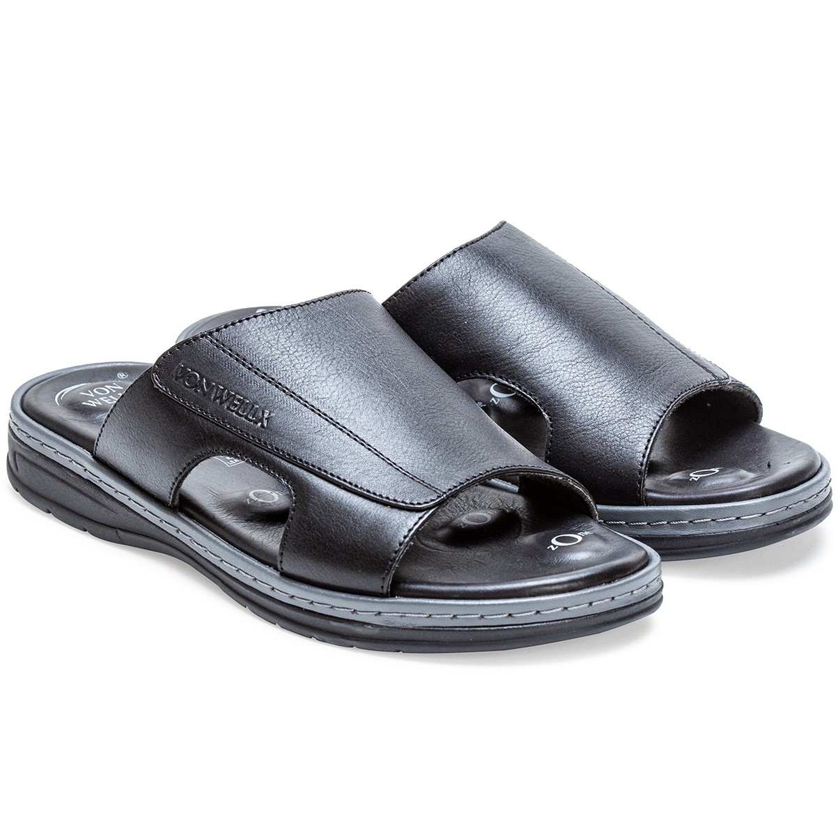 Buy Von Wellx Germany Comfort Saunter Black Slippers Online in Srinagar