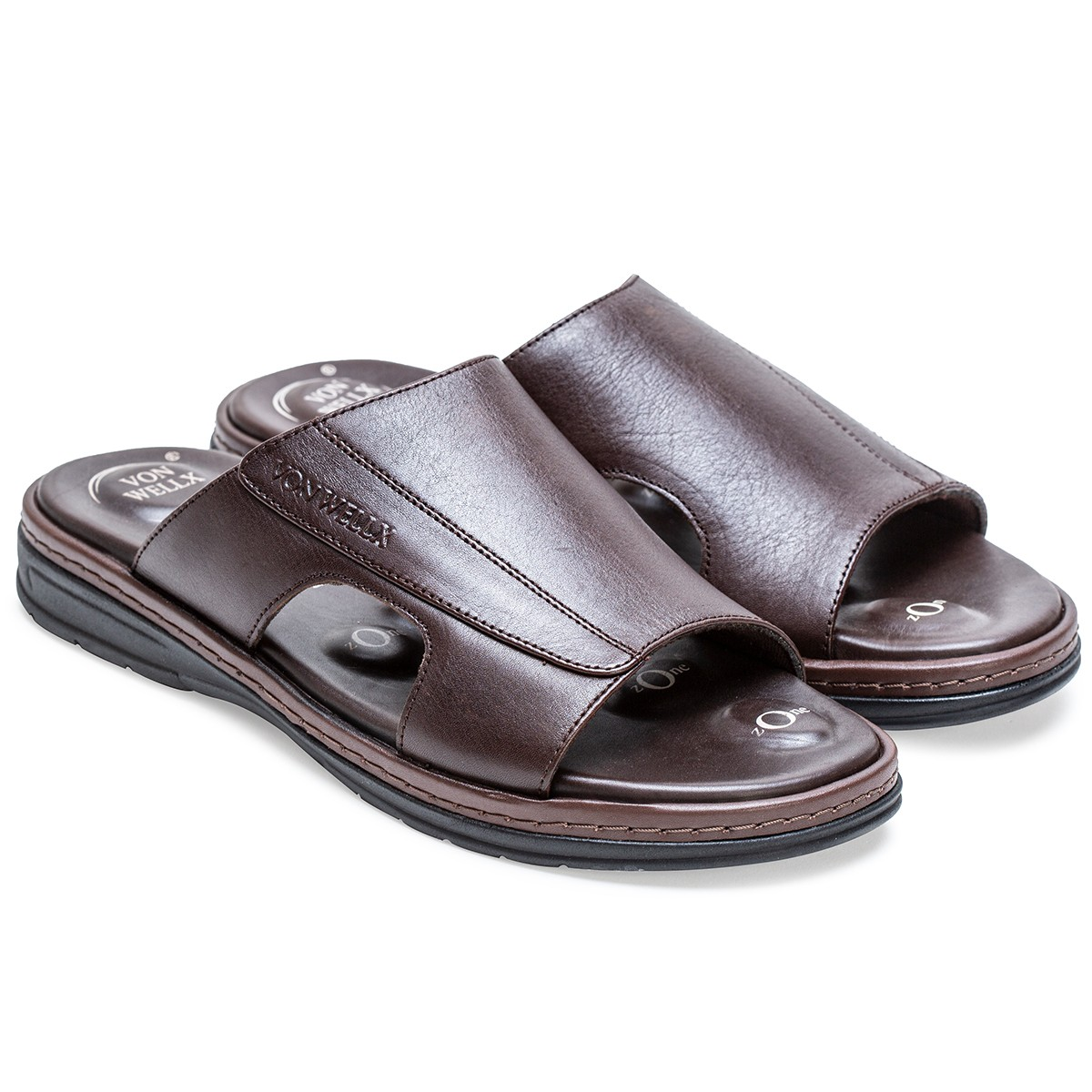 Buy Von Wellx Germany Comfort Saunter Brown Slippers Online in Bangalore