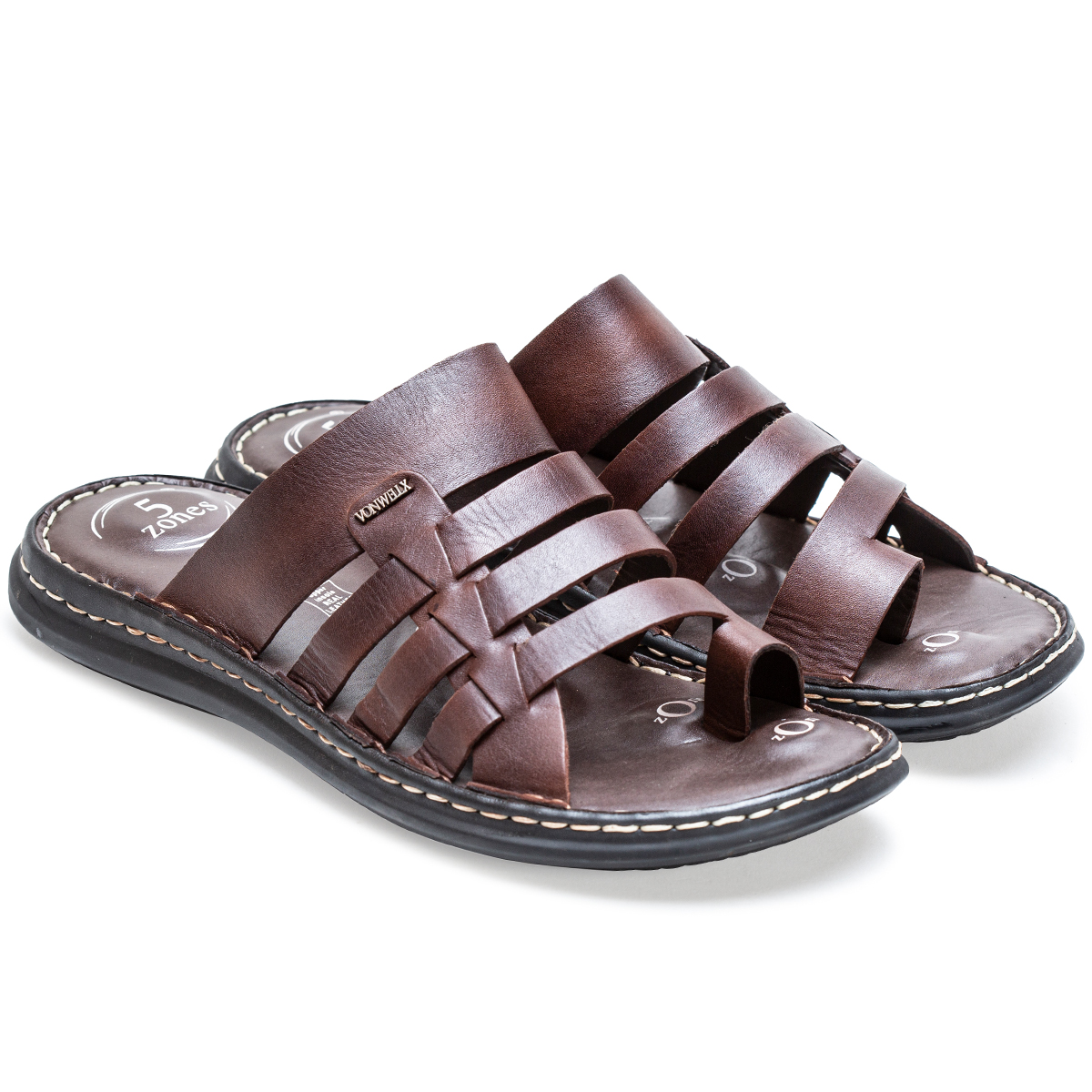 Buy Von Wellx Amble Casual Brown Slide Online in Karnataka