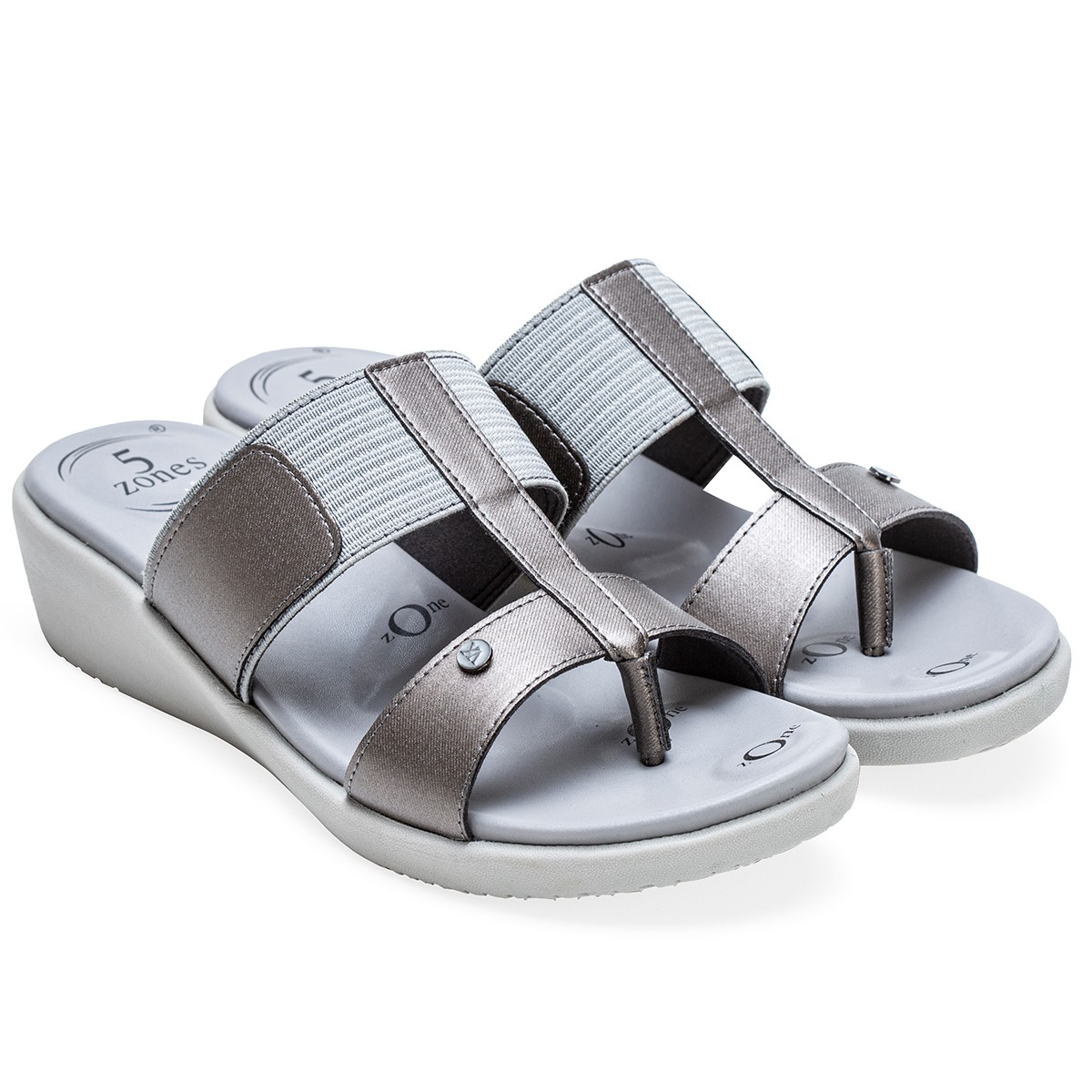 Buy Von Wellx Germany Comfort Glaze Gun Metal Slippers Online in Indore