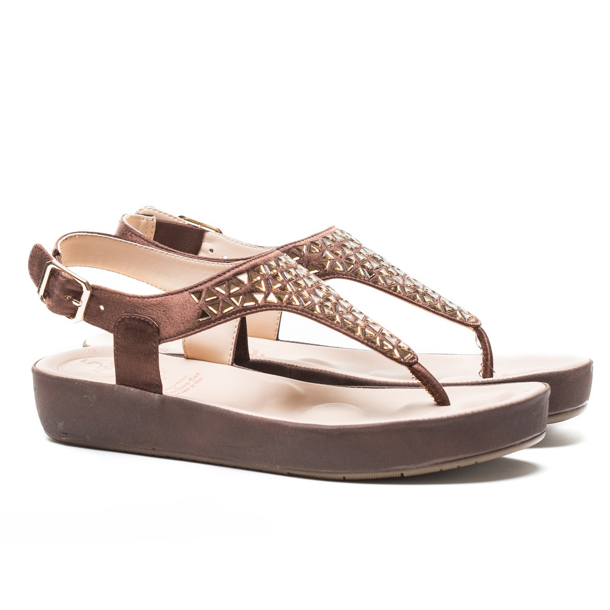 Buy VON WELLX HAVEN COMFORT BROWN SANDAL In Delhi