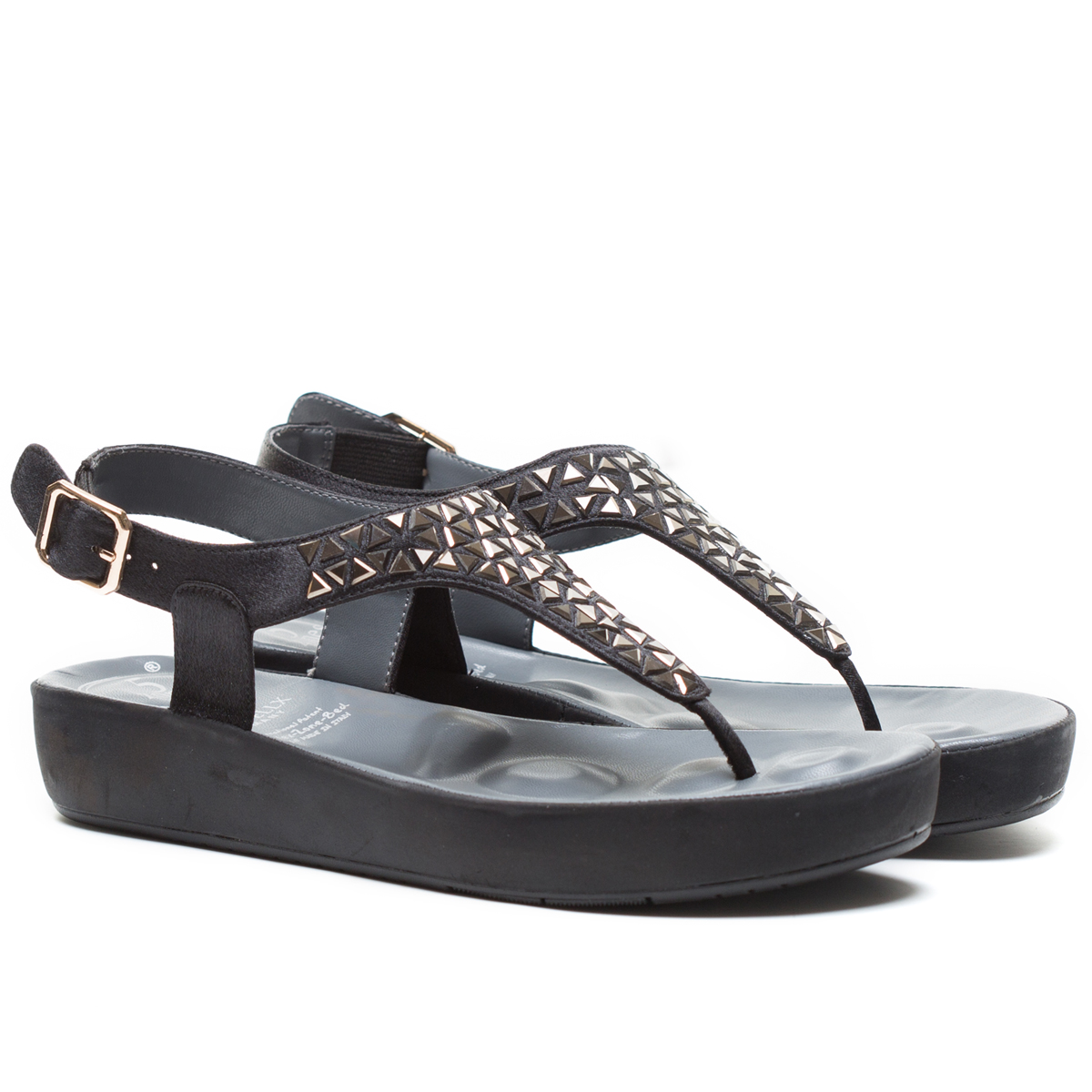 Buy VON WELLX HAVEN COMFORT BLACK SANDAL In Delhi