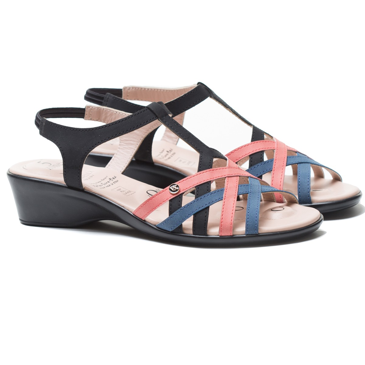 Buy Von Wellx Chloe Comfort Black Sandal Online in Bangalore